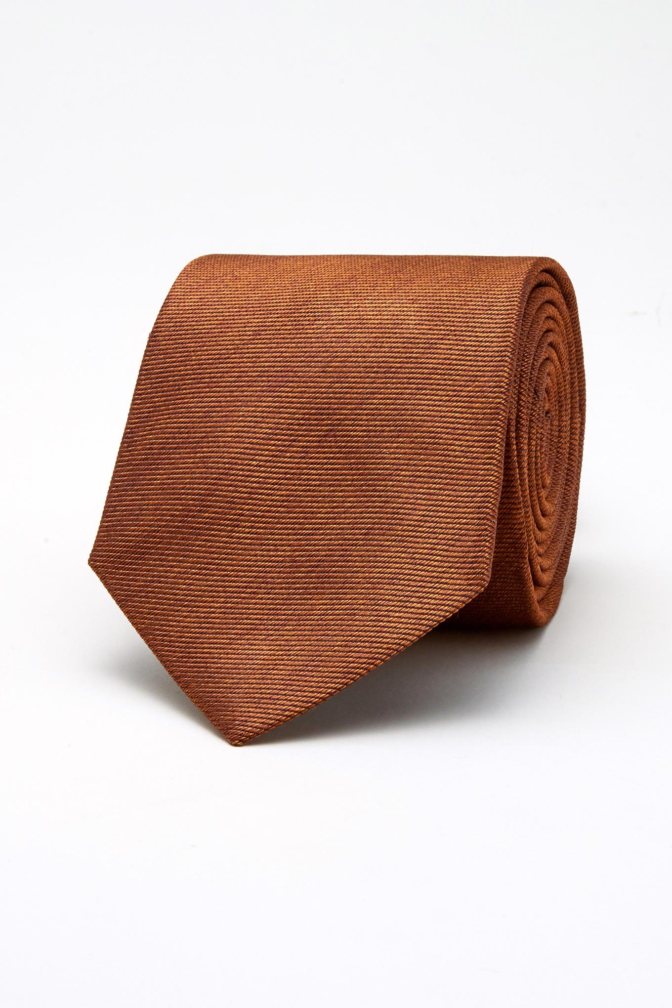 Tie Orange Classic Man