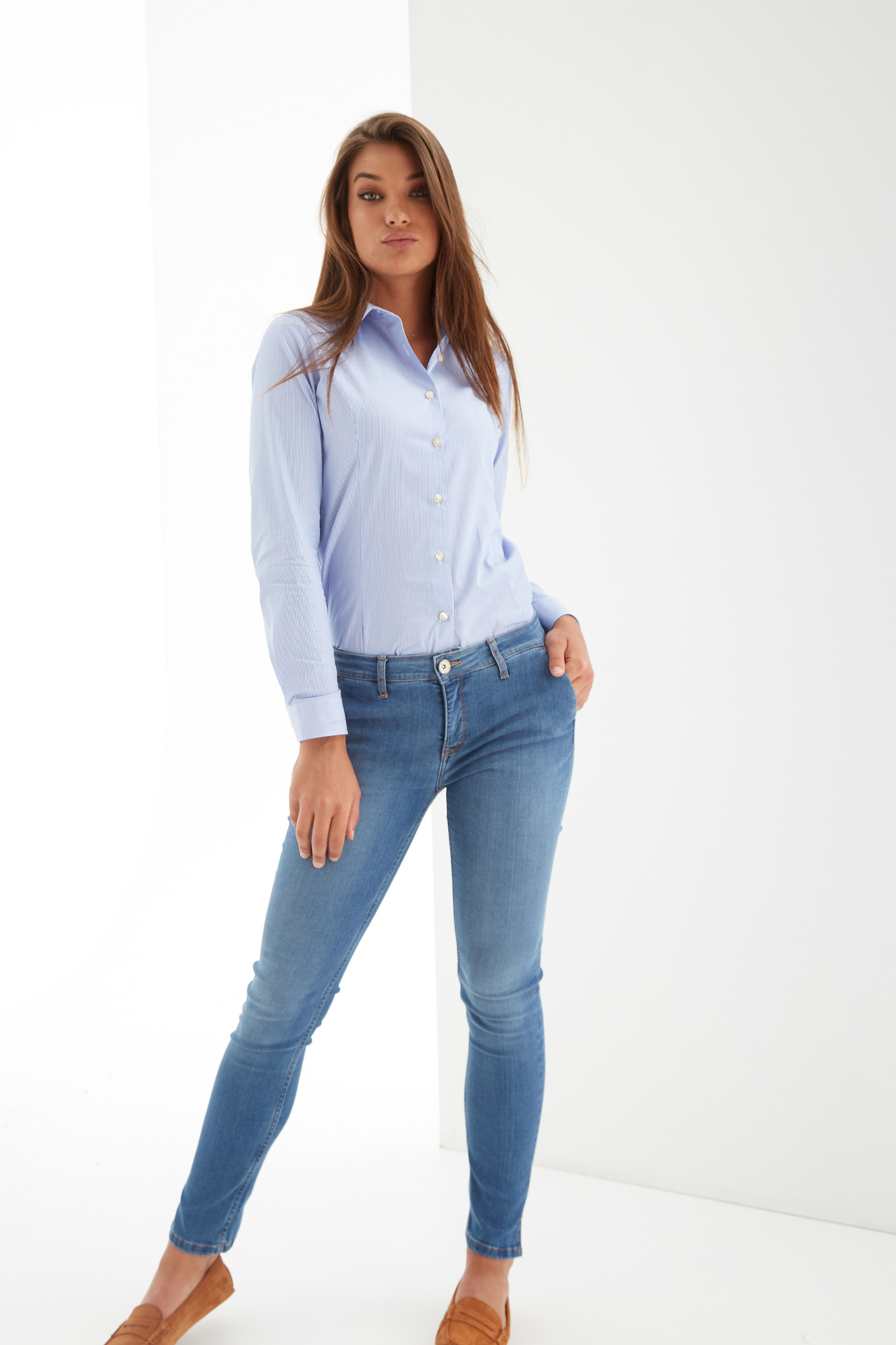 Camisa Riscas Classic Mulher