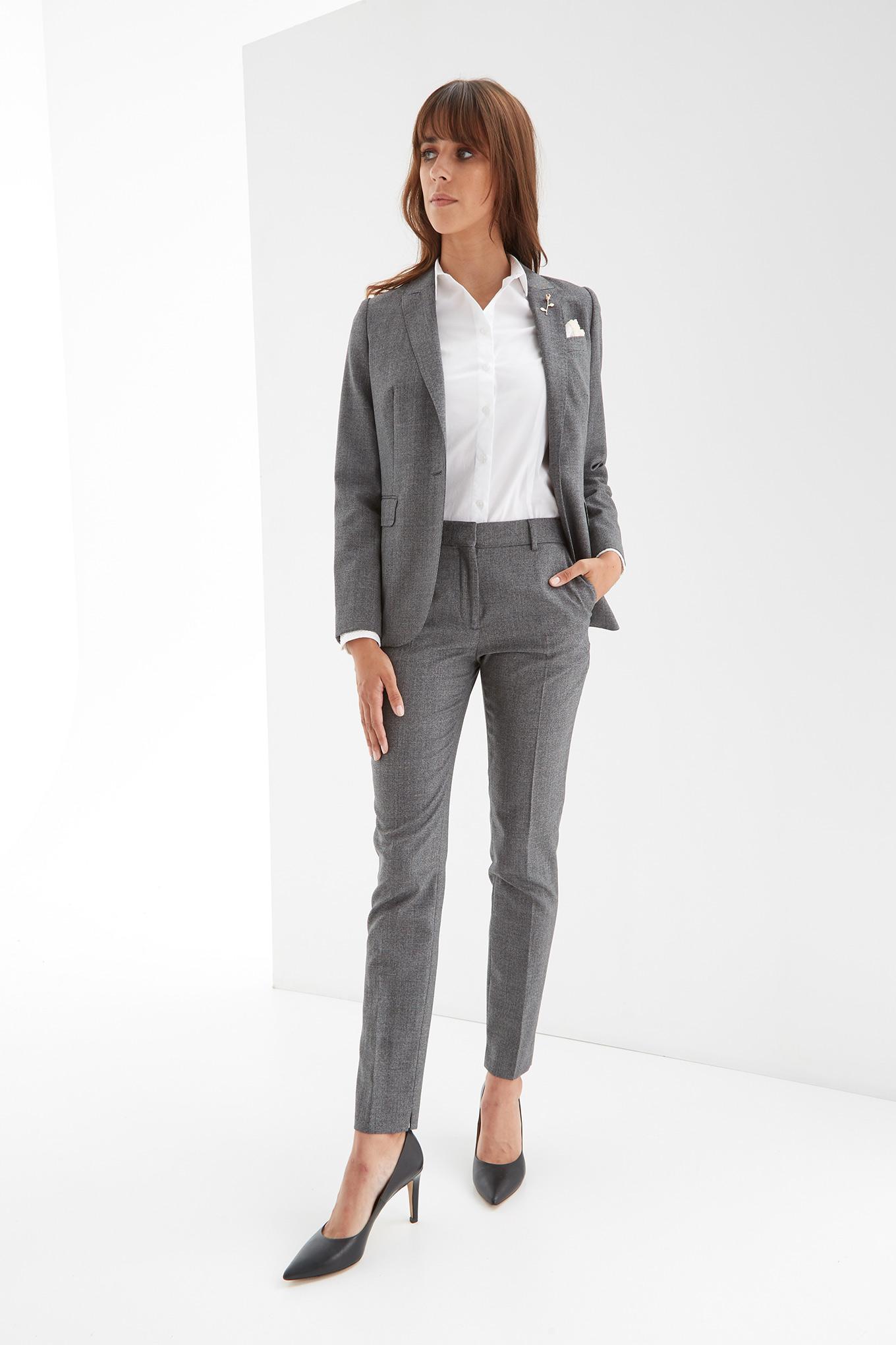Suit Grey Classic Woman