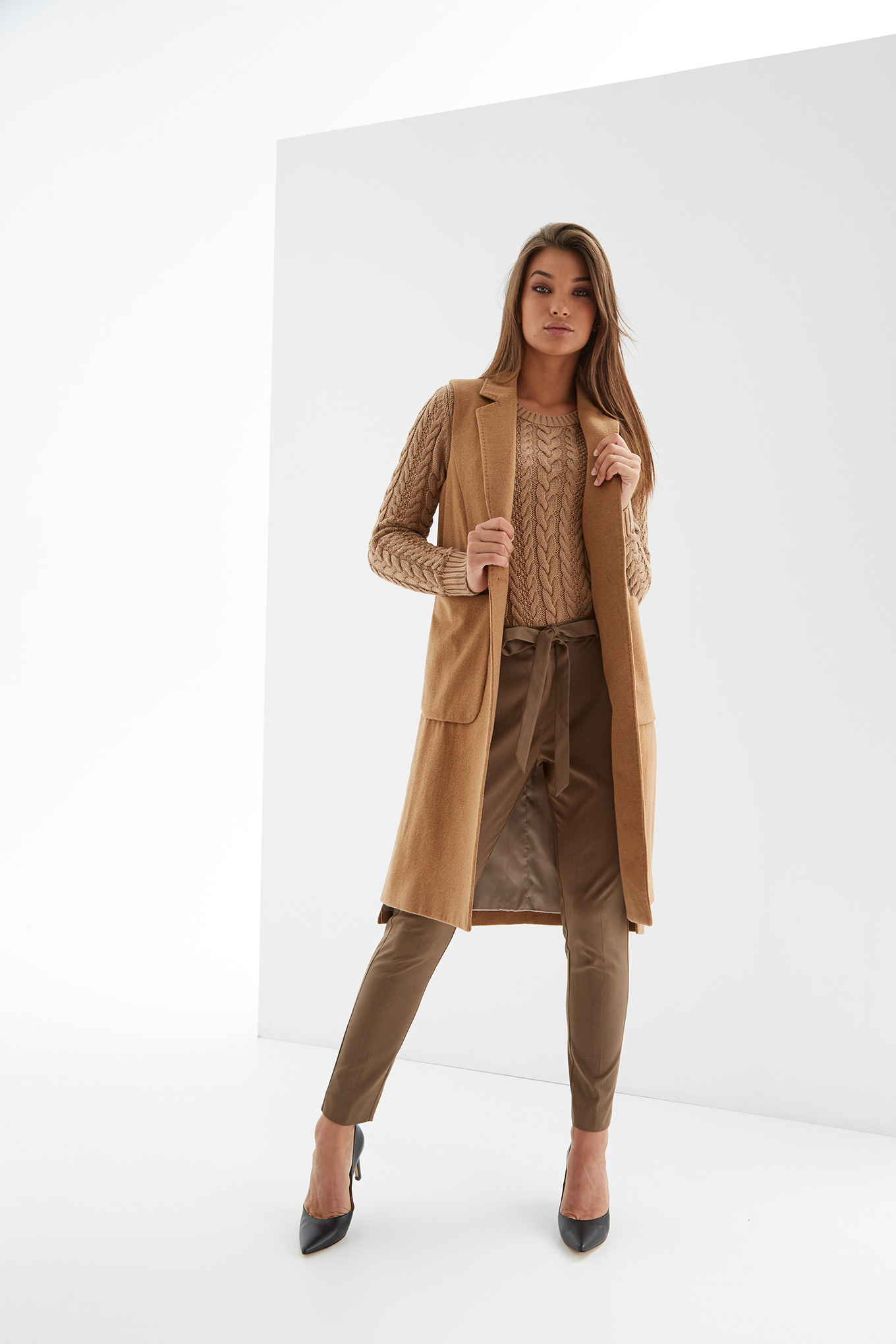 Coat Camel Casual Woman