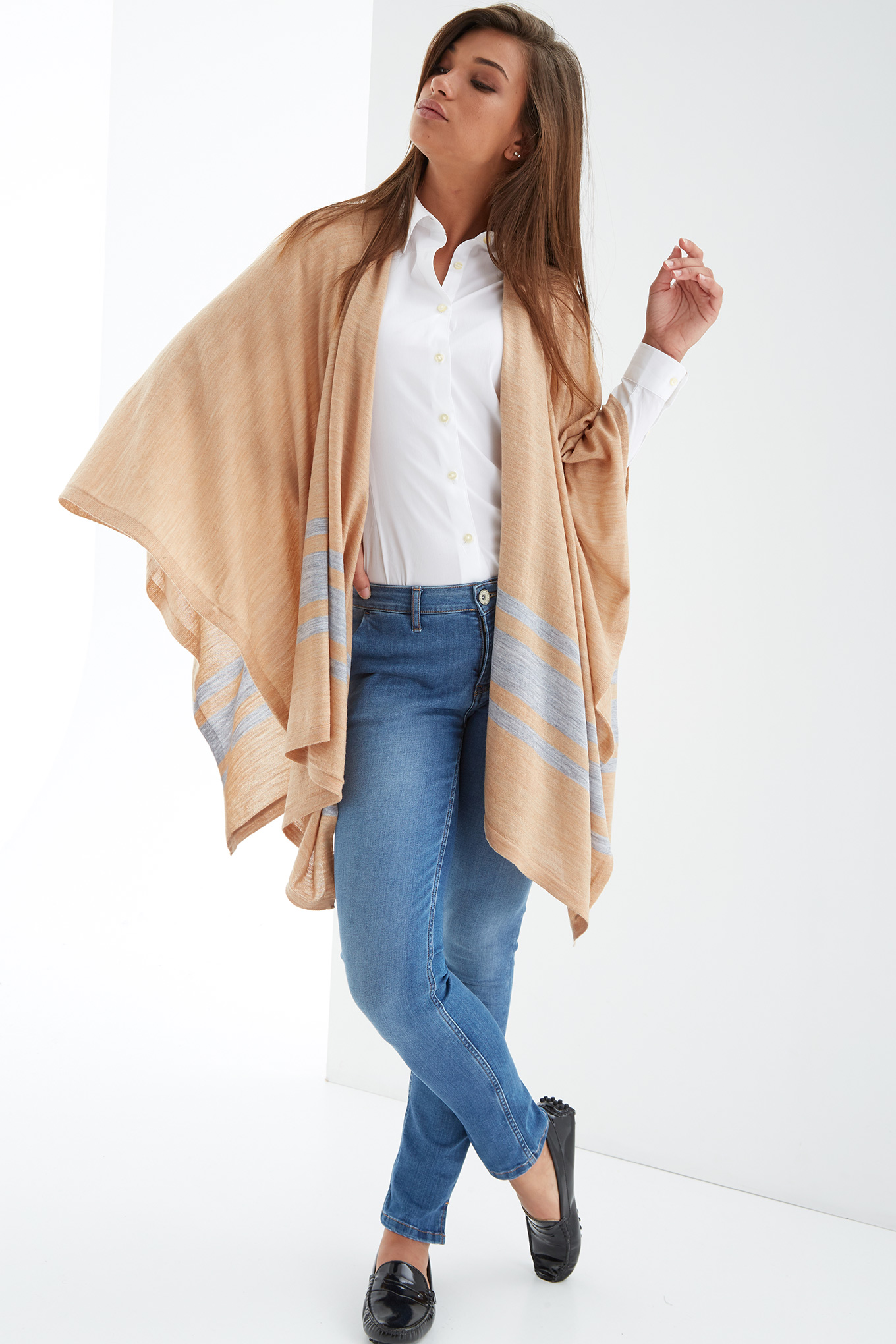 Scarf Camel Casual Woman