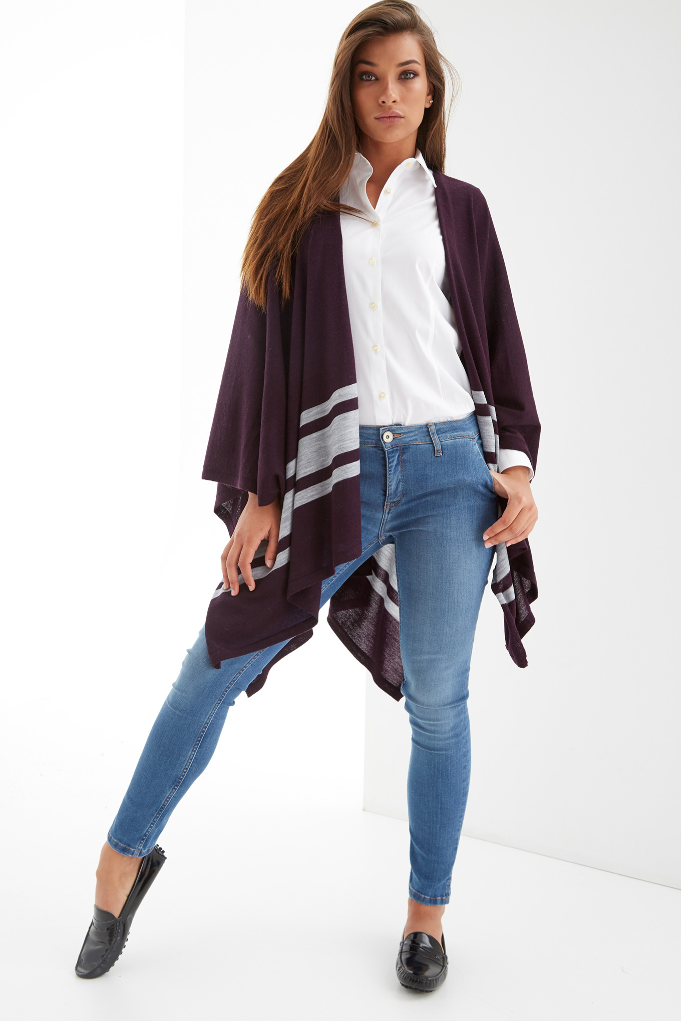 Scarf Plum Casual Woman