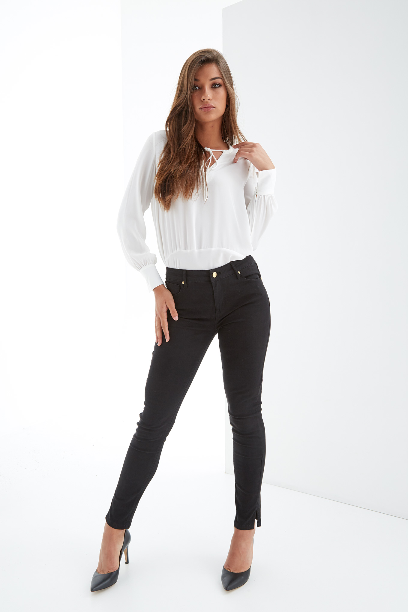 Five Pocket Trousers Black Casual Woman