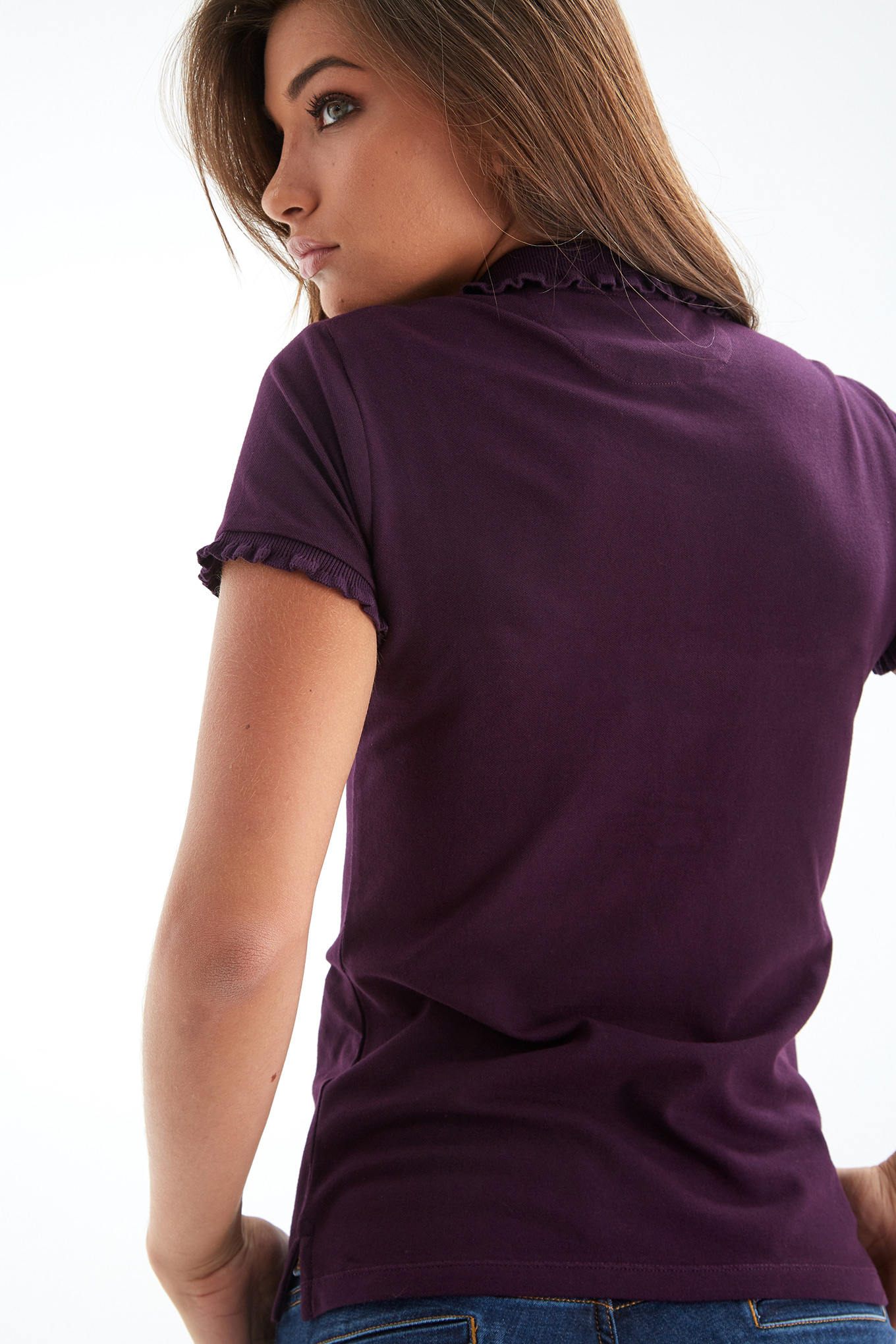 Polo Piquet Plum Sport Woman
