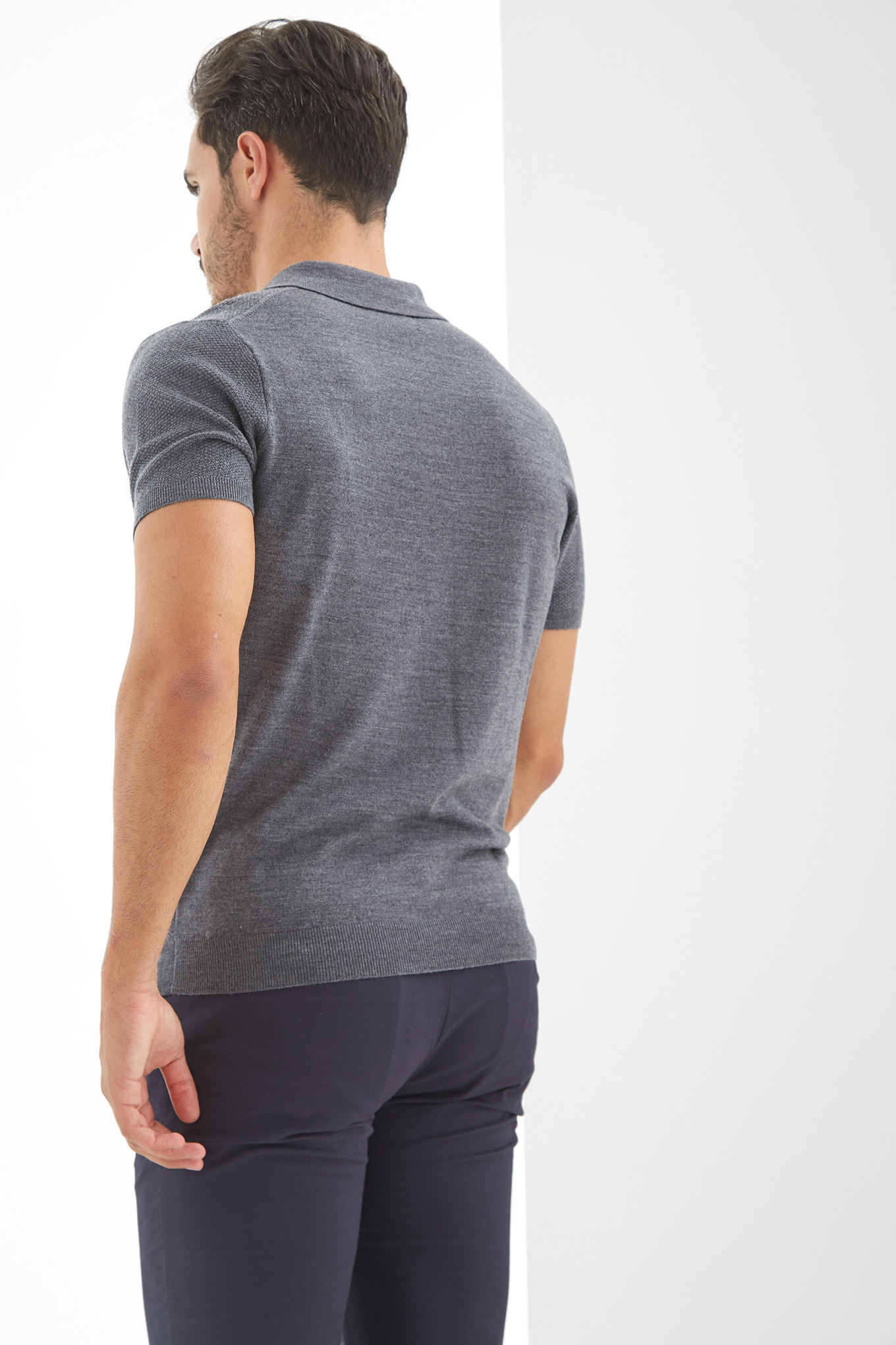 Sweater Mix Grey Casual Man