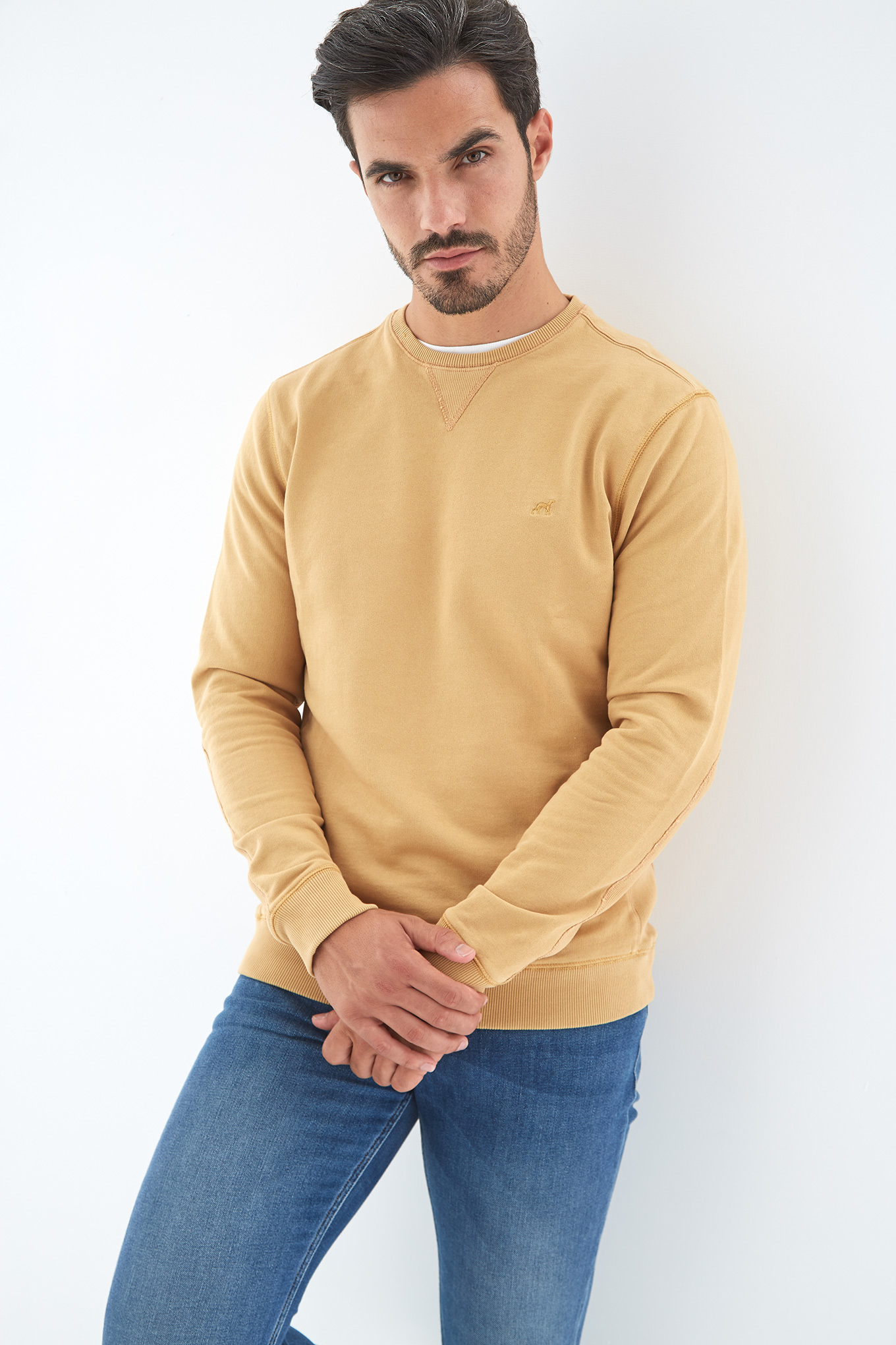 Sweatshirt Yellow Sport Man