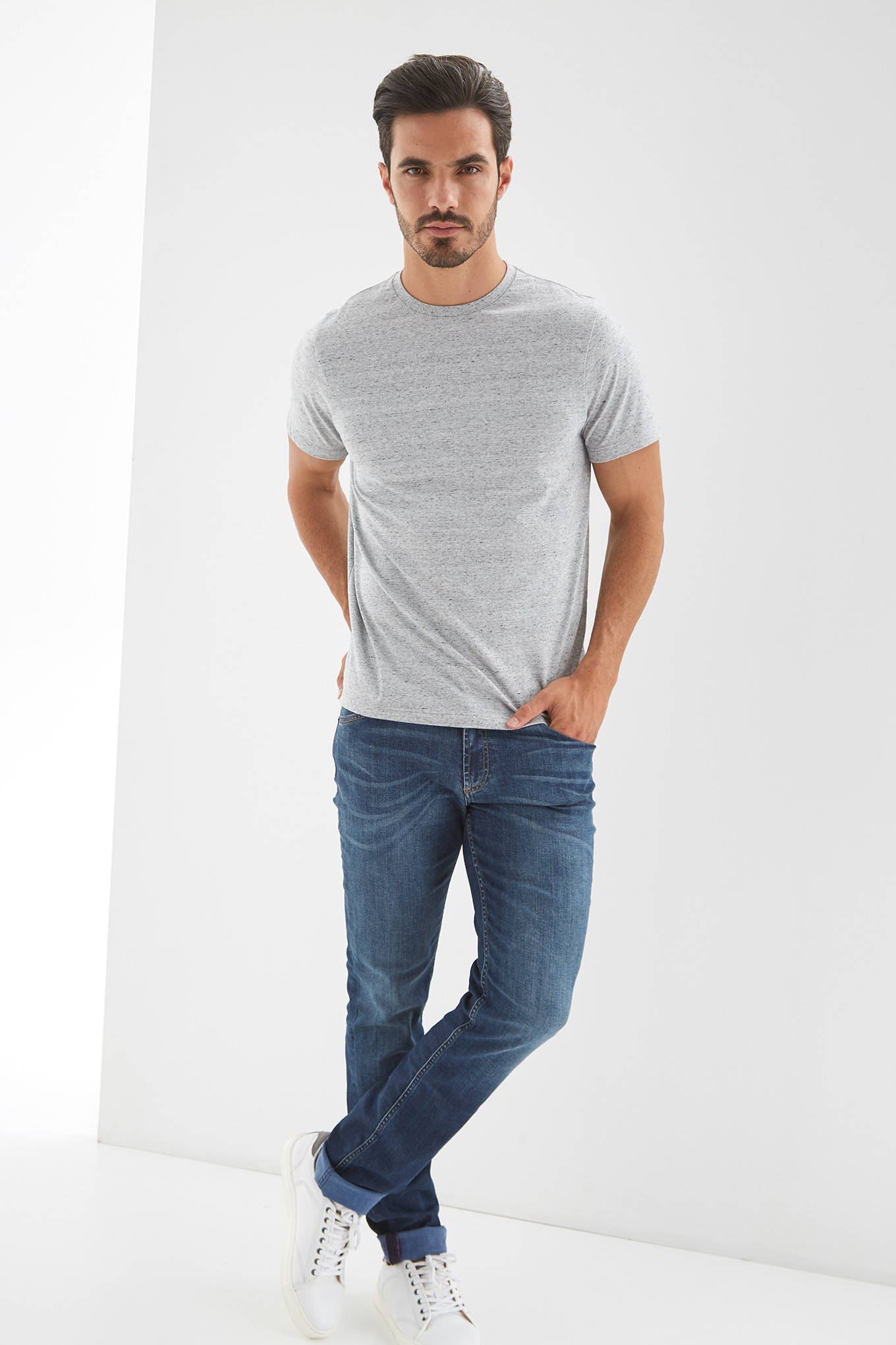 T-Shirt Light Grey Sport Man