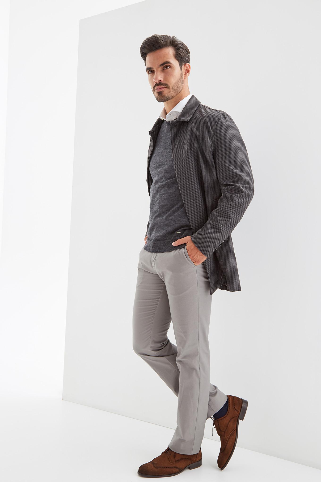 Raincoat Dark Grey Casual Man
