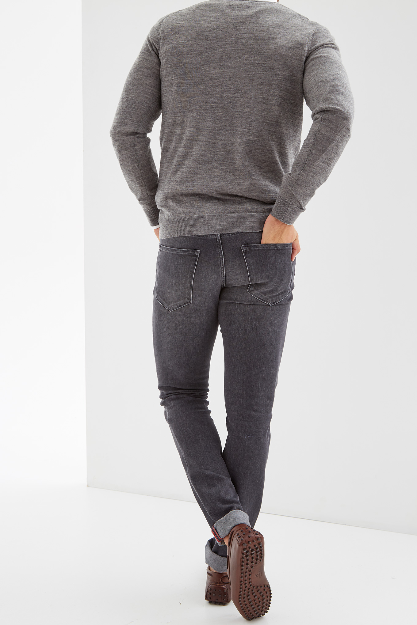 Jeans Light Grey Casual Man