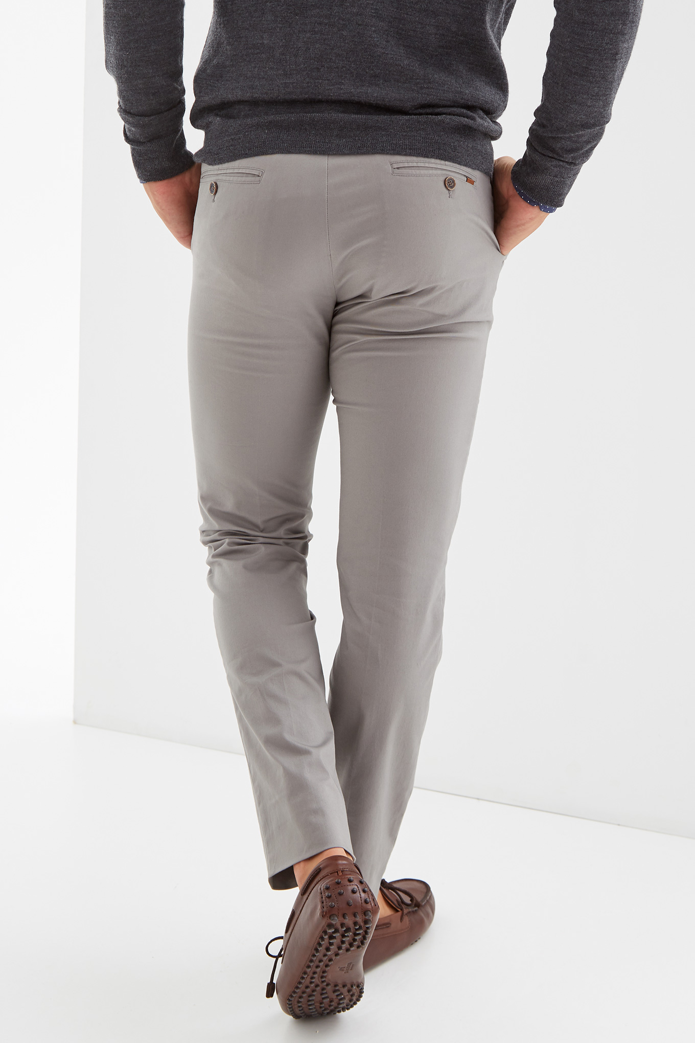 Chino Trousers Medium Grey Sport Man