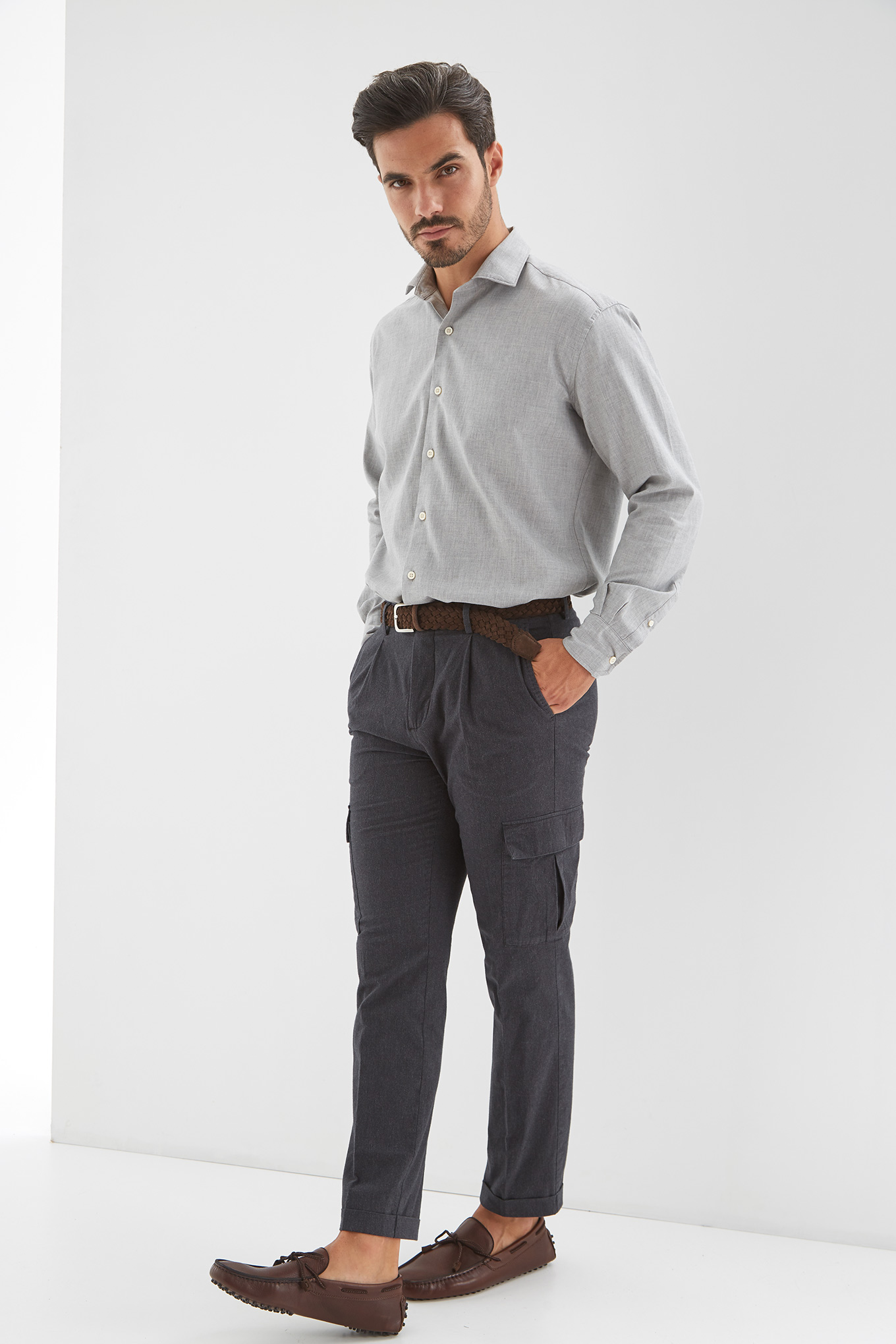 Cargo Trousers Dark Grey Sport Man