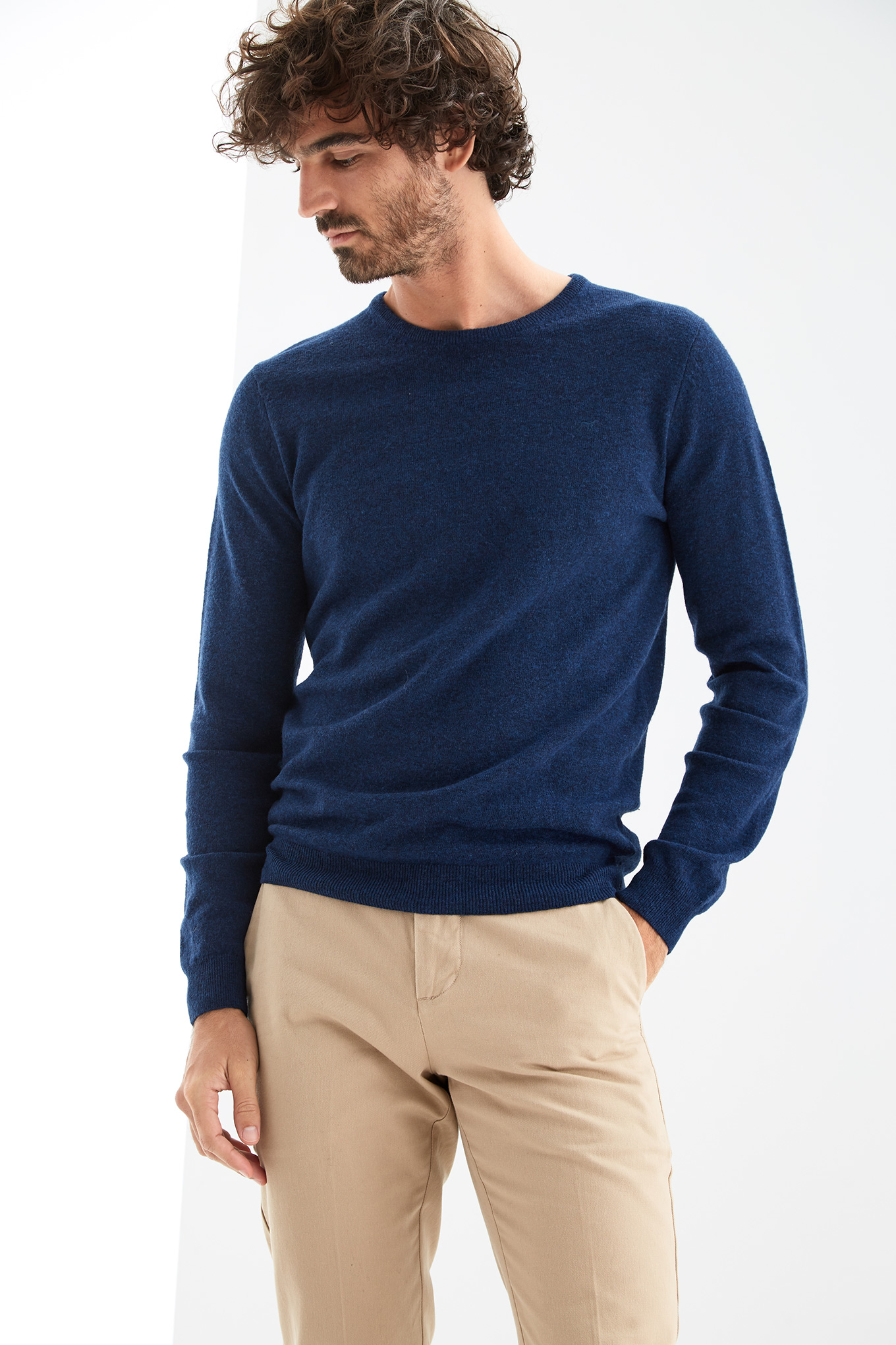 Sweater Royal Blue Casual Man