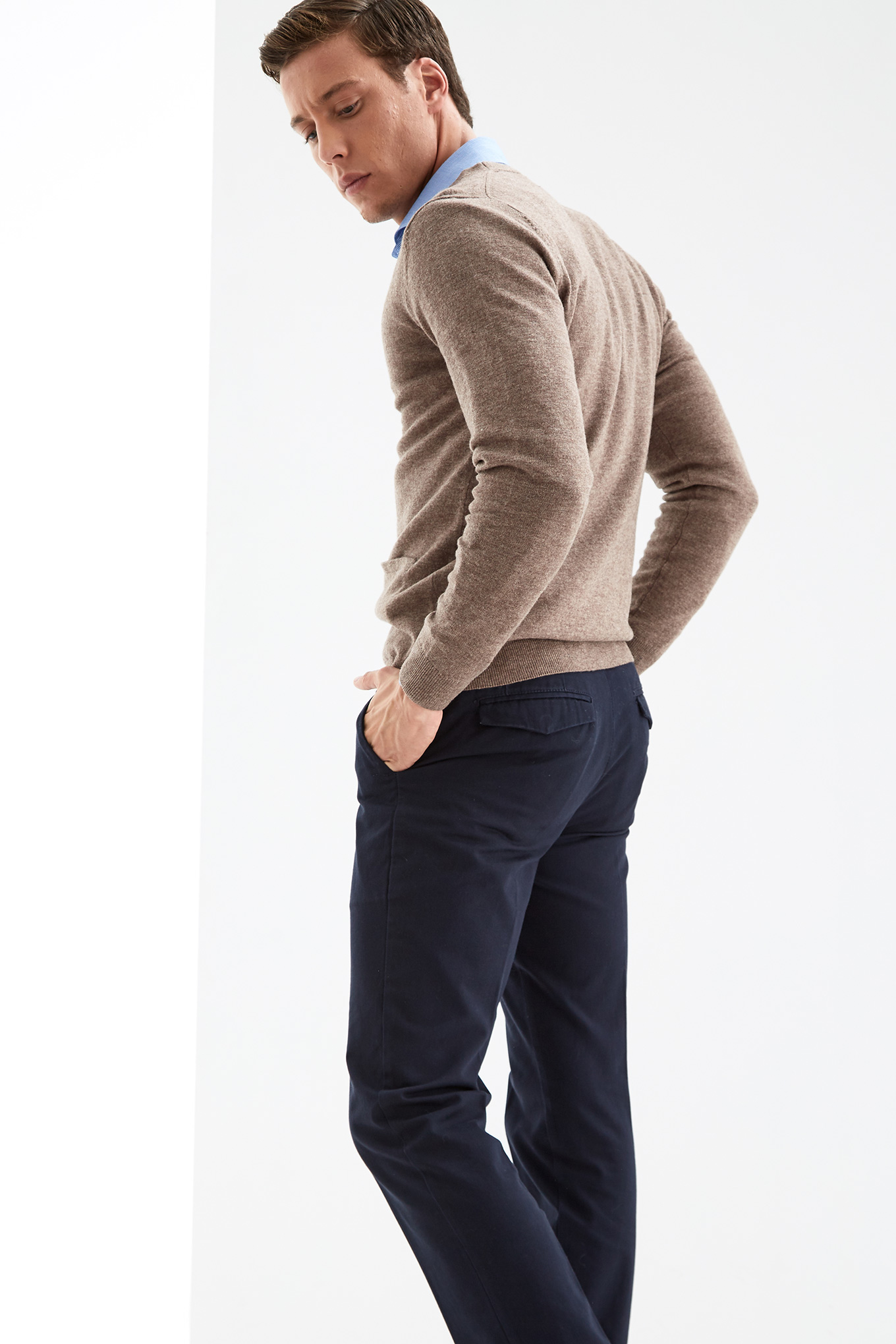 Cardigan Dark Beige Casual Man