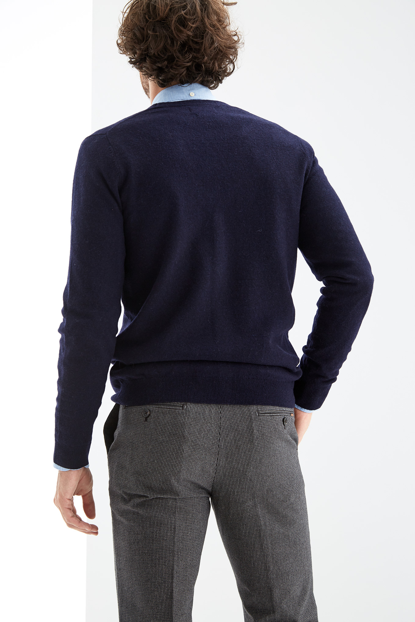 Cardigan Dark Blue Casual Man