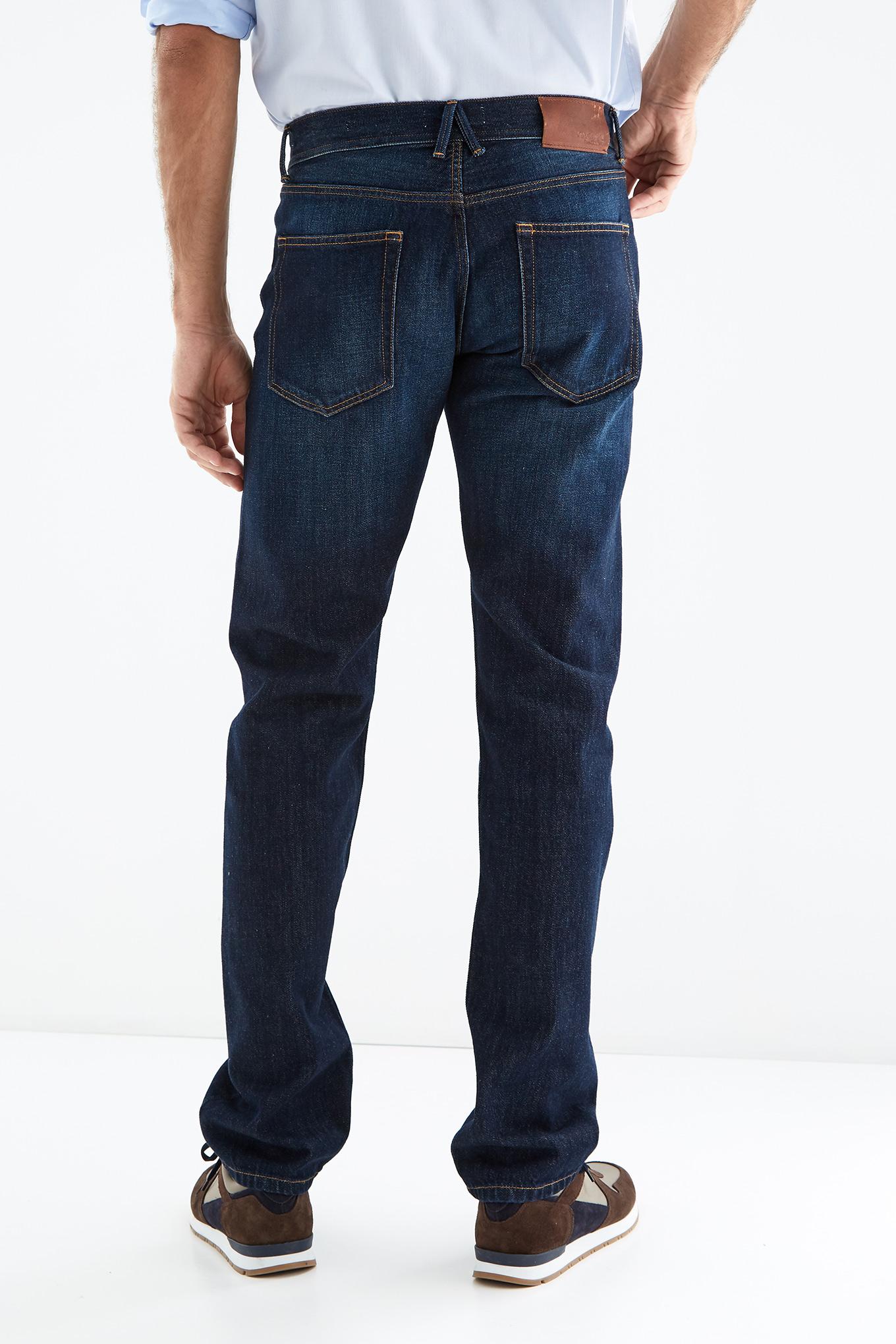 Jeans Dark Blue Casual Man