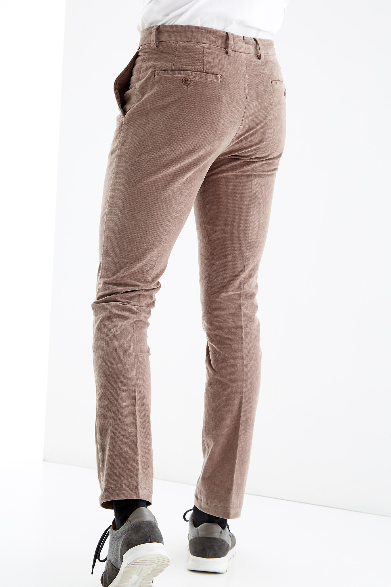 Chino Trousers Dark Beige Sport Man
