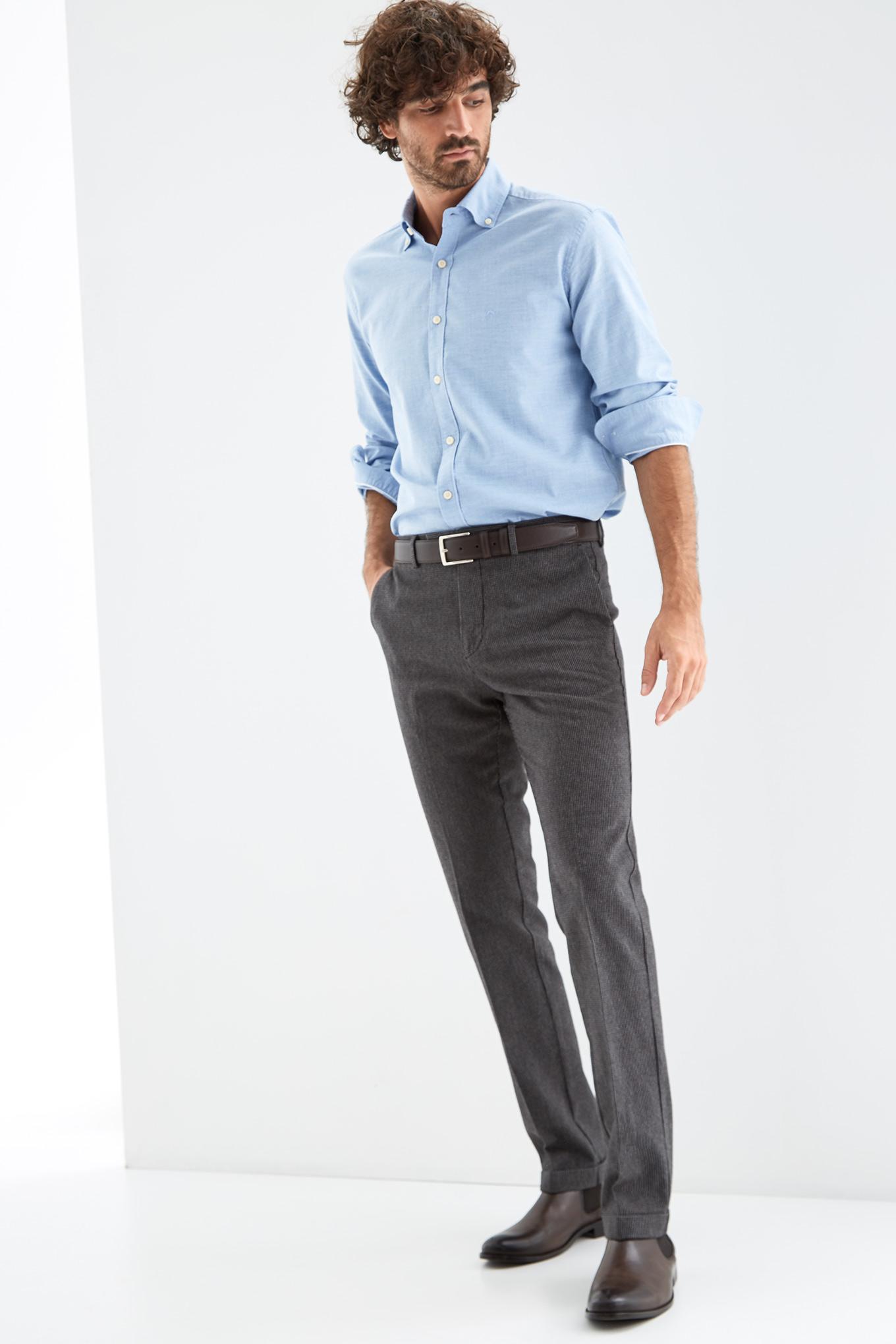 Chino Trousers Dark Grey Sport Man