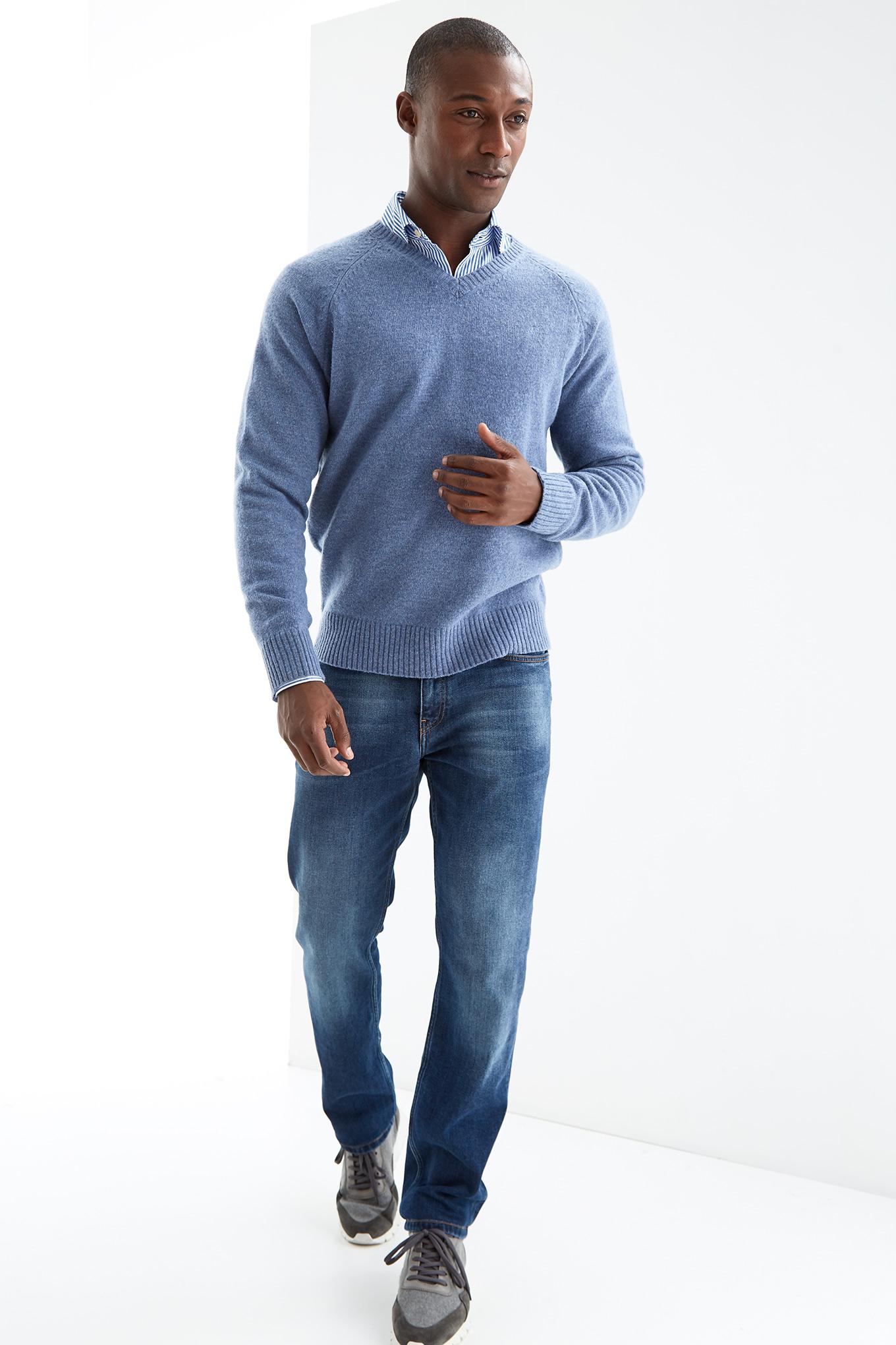 Malha Azul Médio Casual Homem
