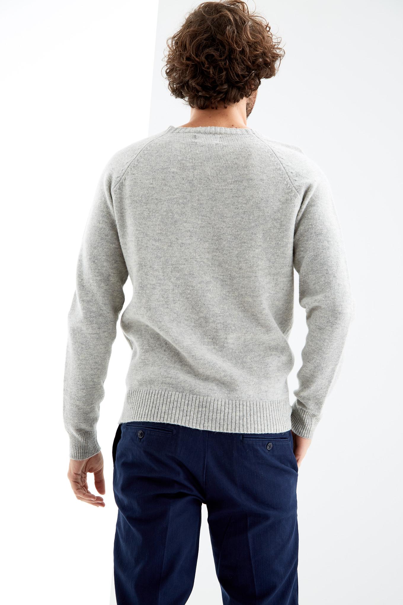 Sweater Light Grey Casual Man