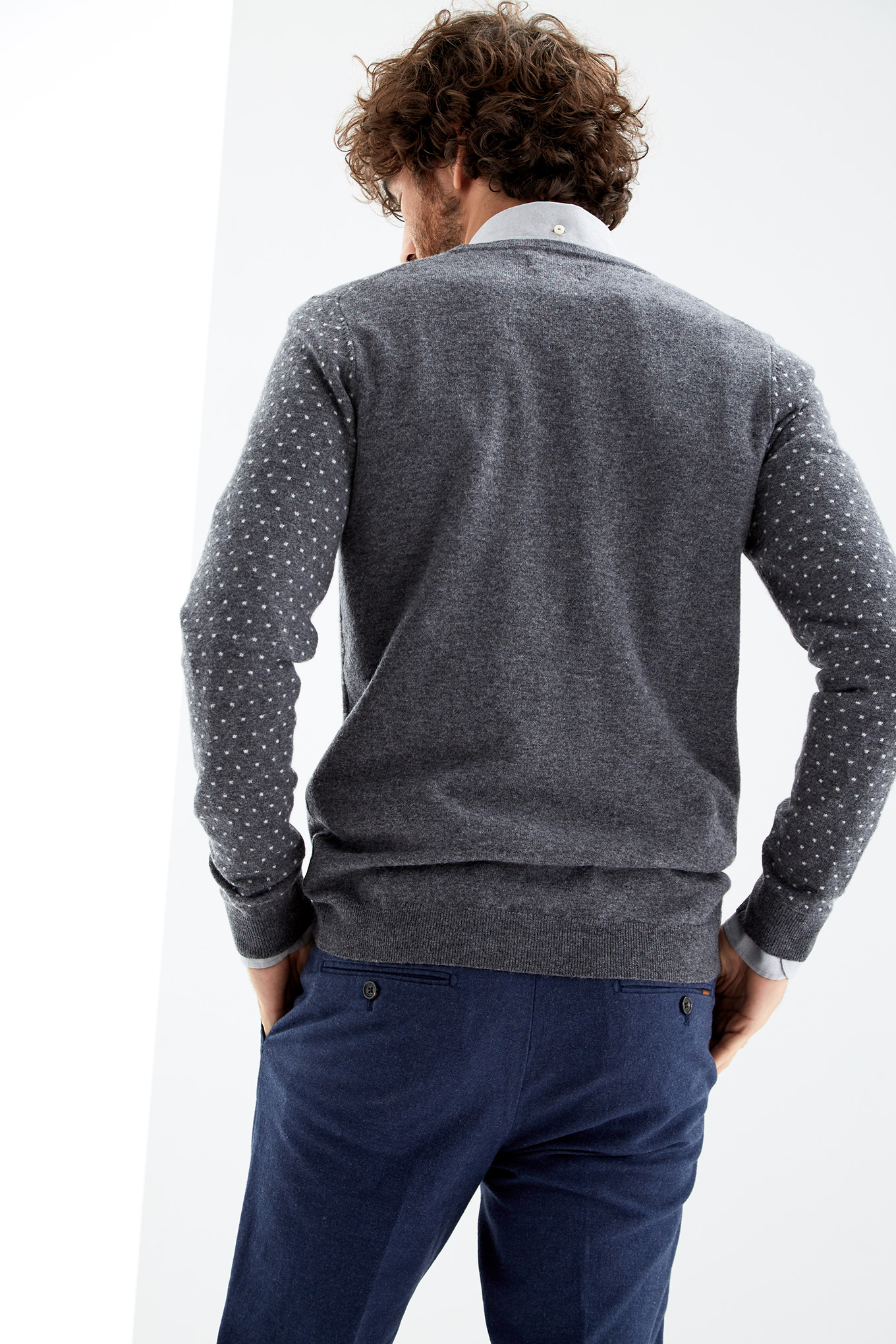Cardigan Dark Grey Casual Man