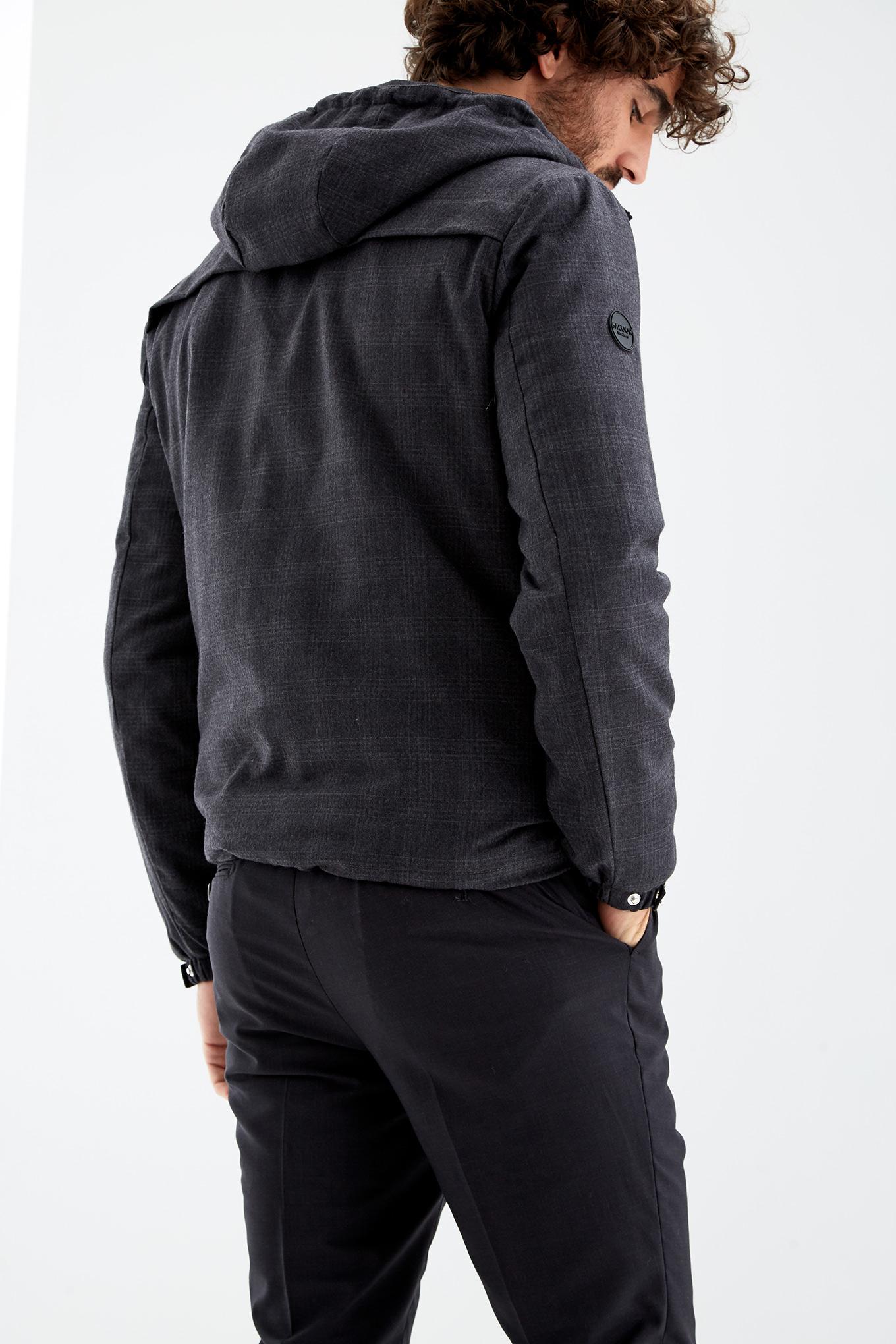 Jacket Dark Grey Casual Man