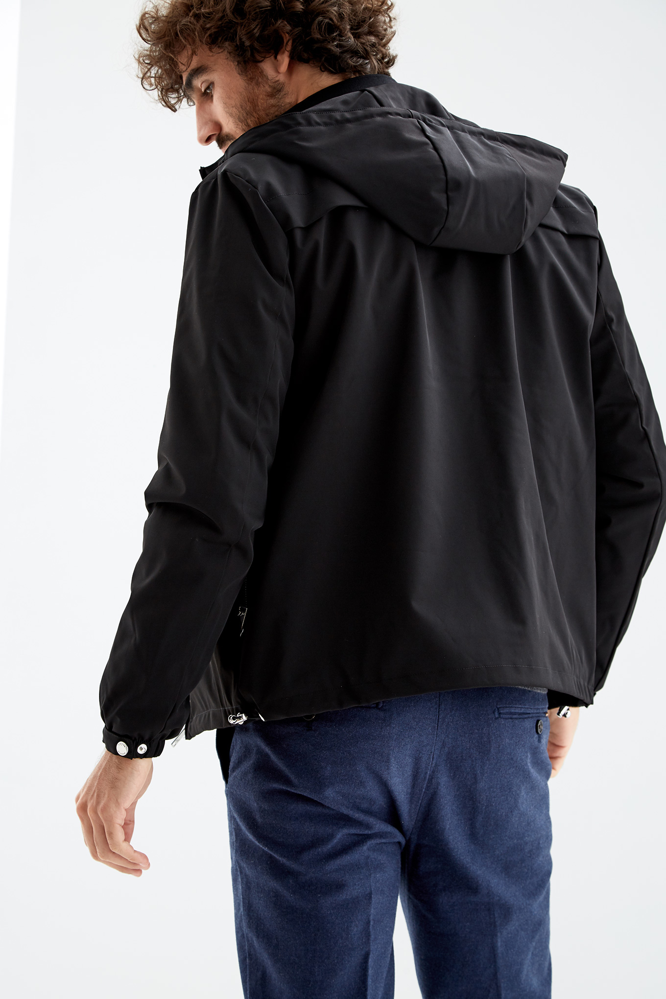Jacket Black Casual Man