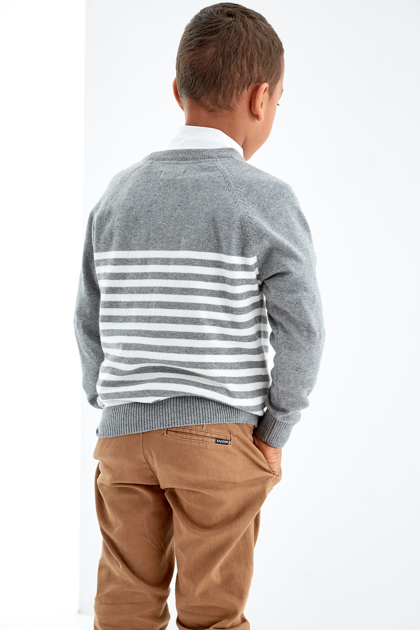 Sweater Stripes Casual Boy