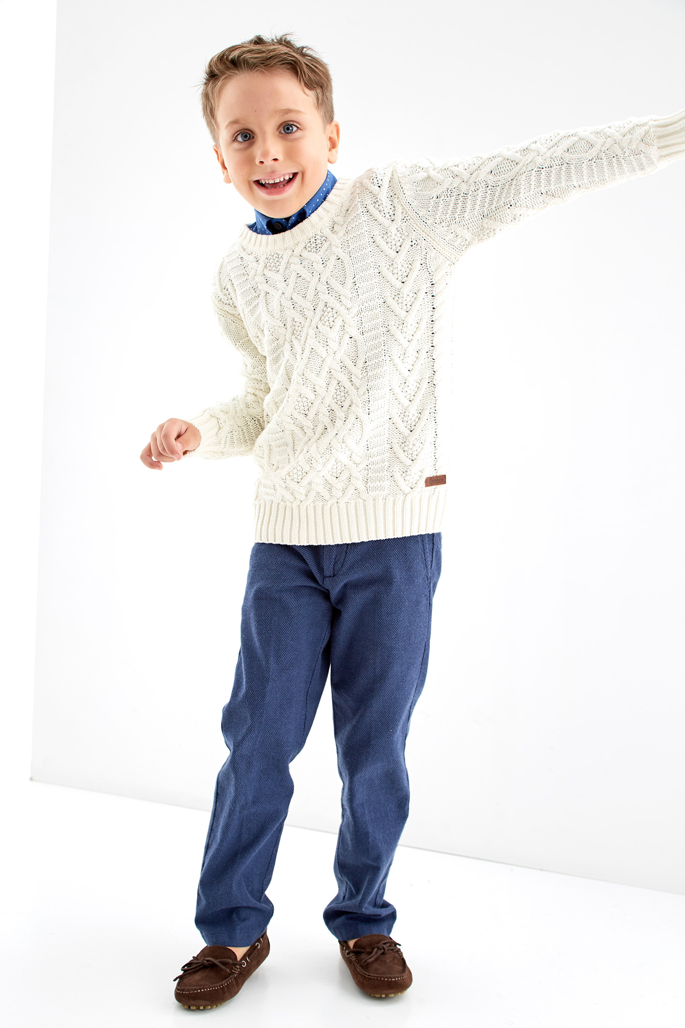 Sweater Ecru Casual Boy