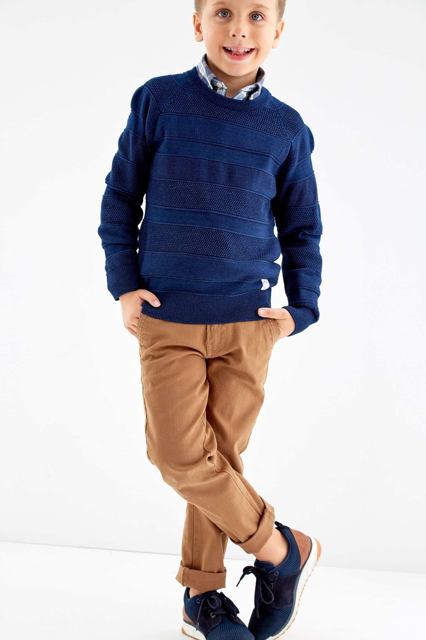 Sweater Dark Blue Casual Boy
