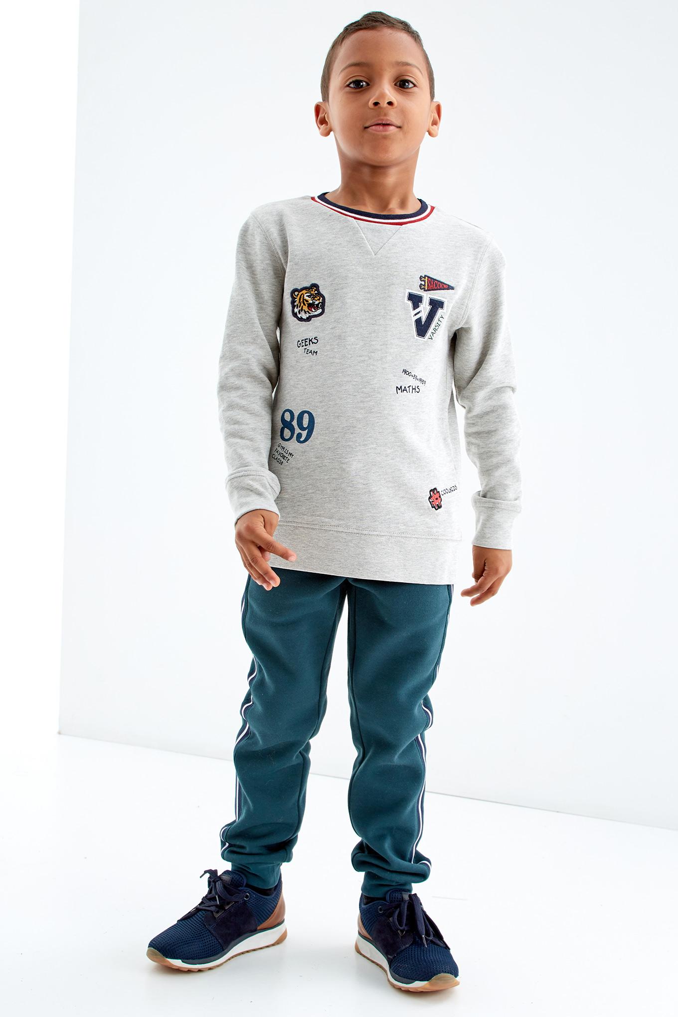 Sweatshirt Light Grey Sport Boy
