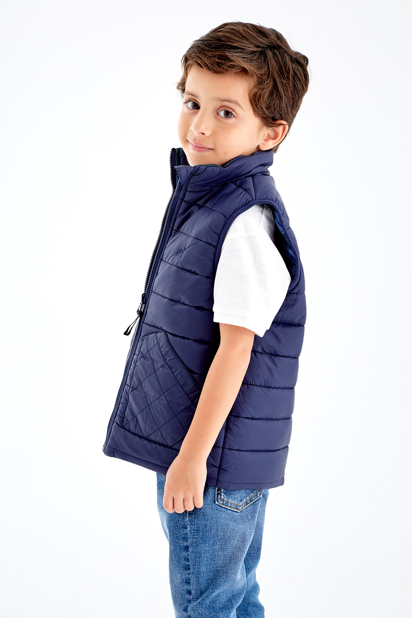 Waist Coat Dark Blue Sport Boy
