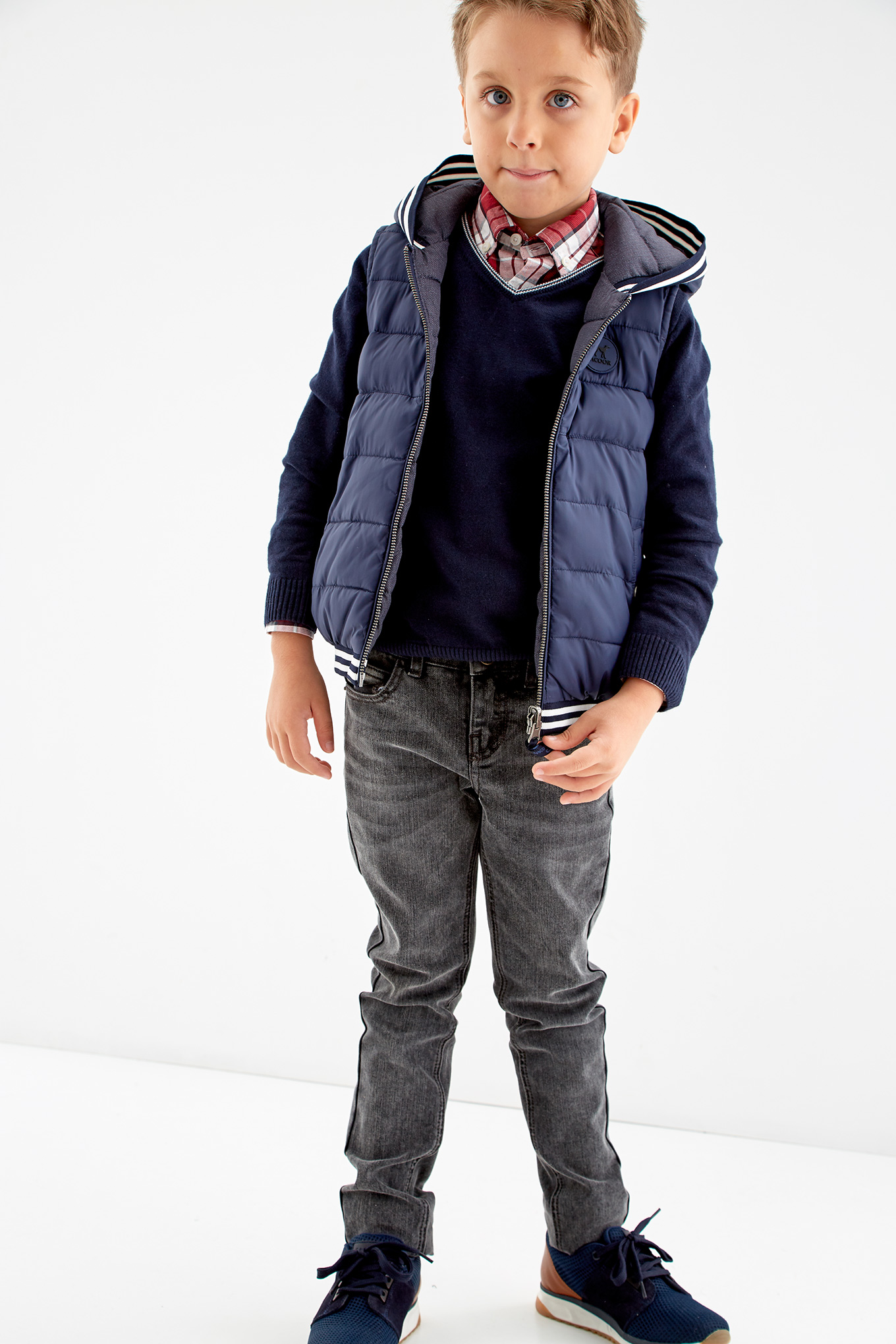 Waist Coat Dark Blue Sport Boy