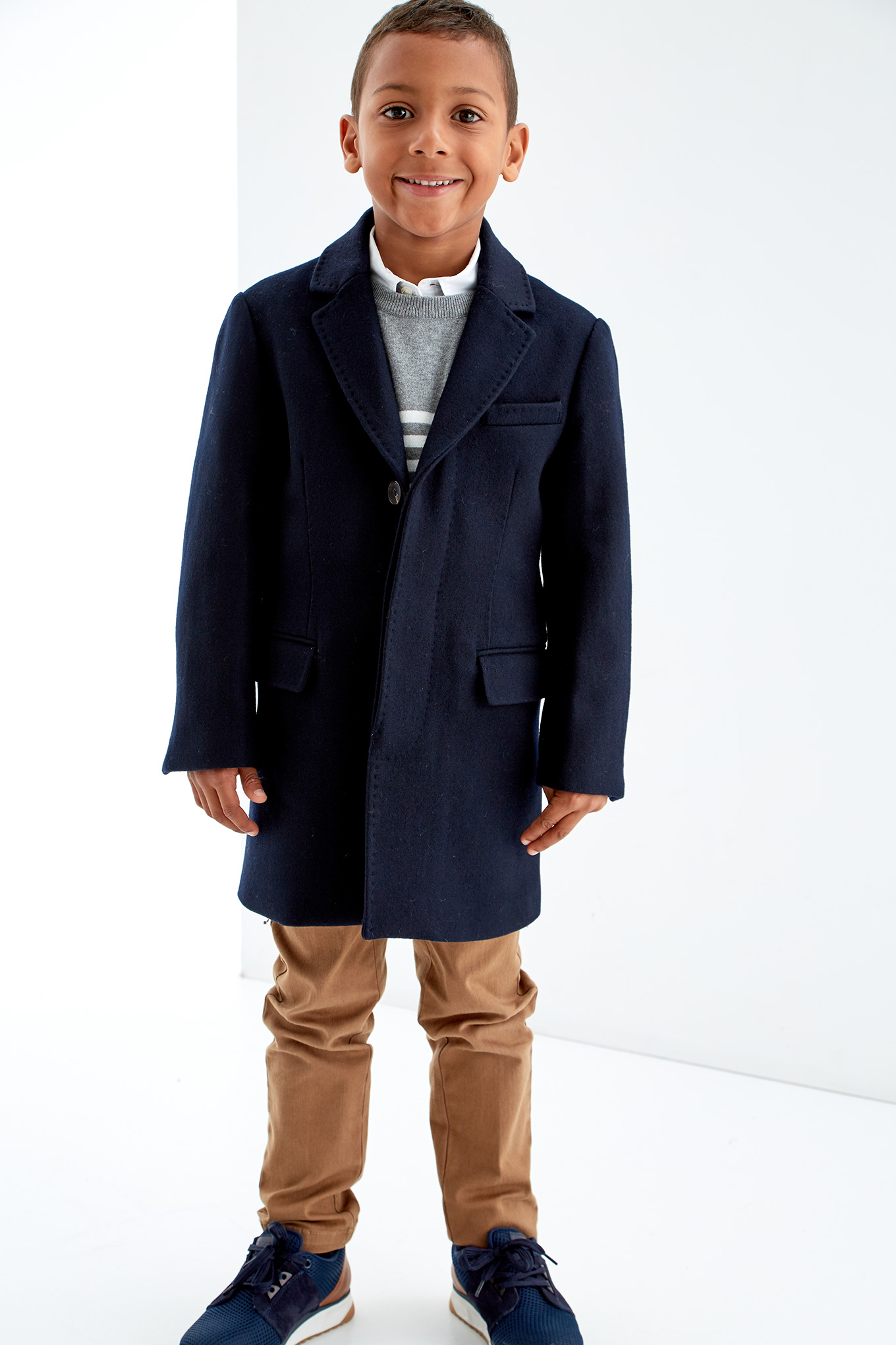 Overcoat Dark Blue Sport Boy