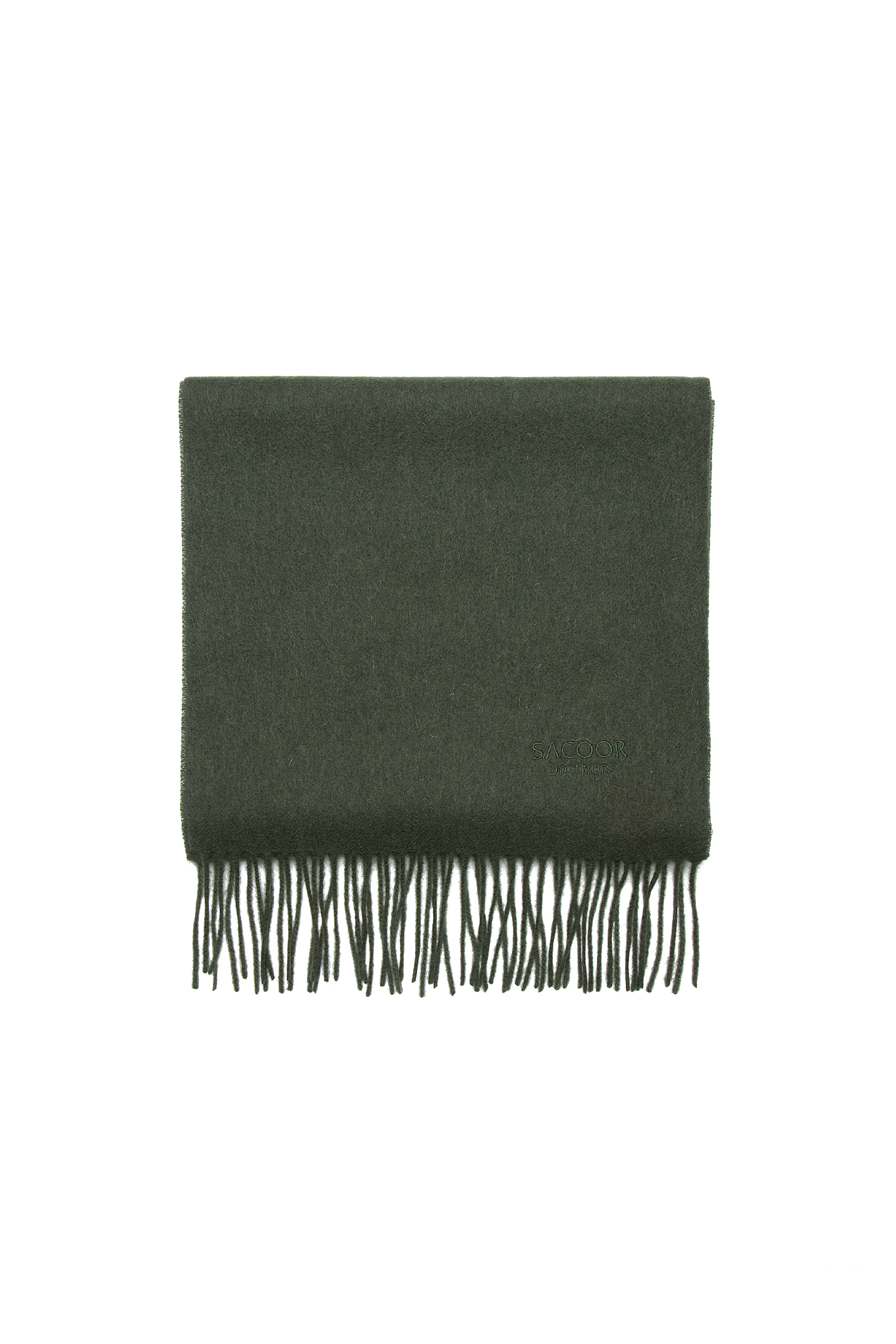 Scarf Dark Green Casual Man