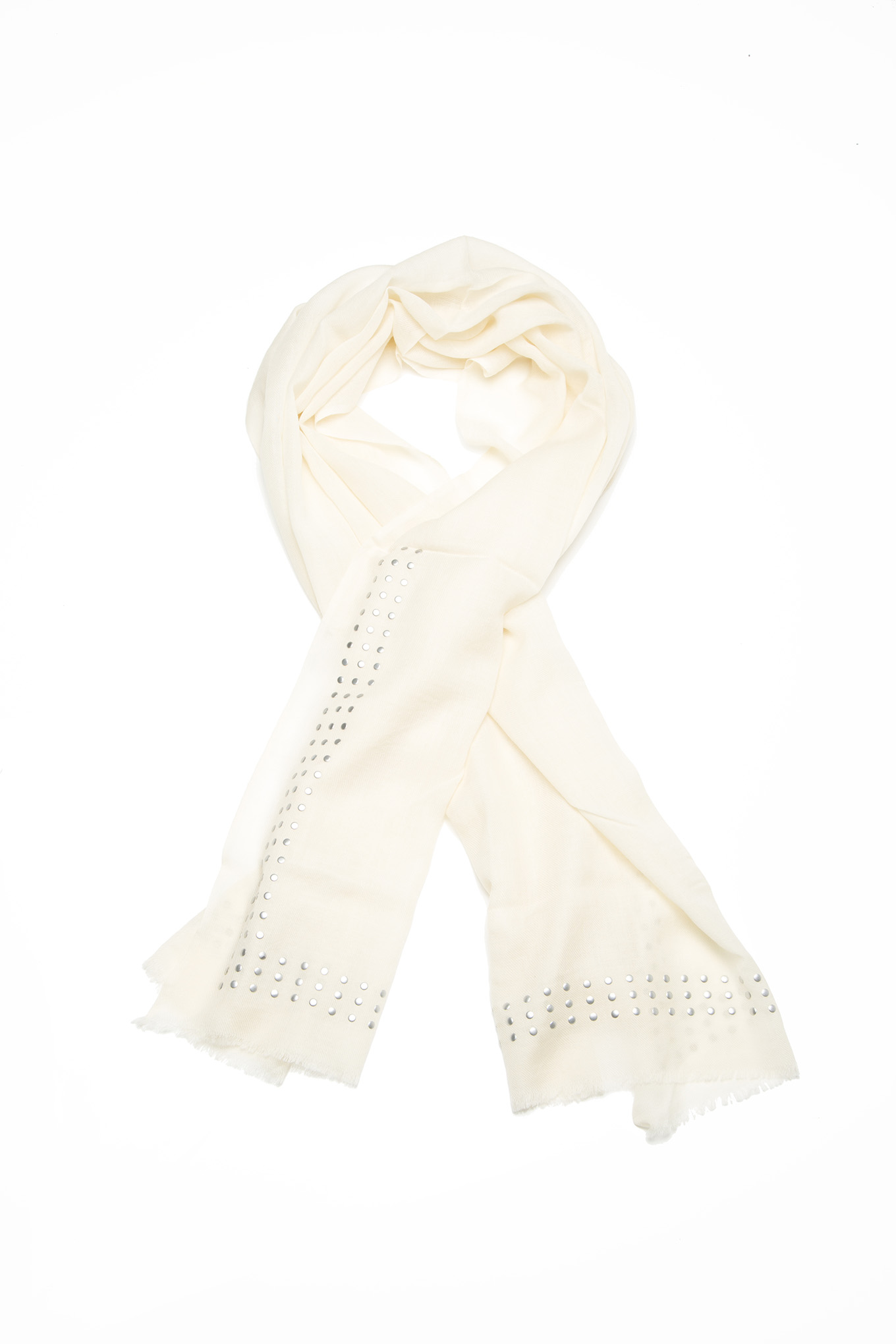 Scarf Ecru Casual Woman