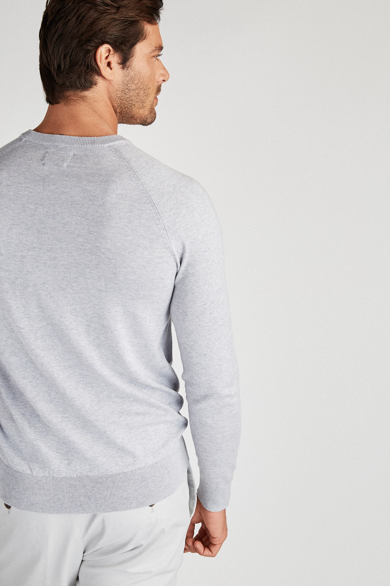 Sweater Medium Grey Casual Man