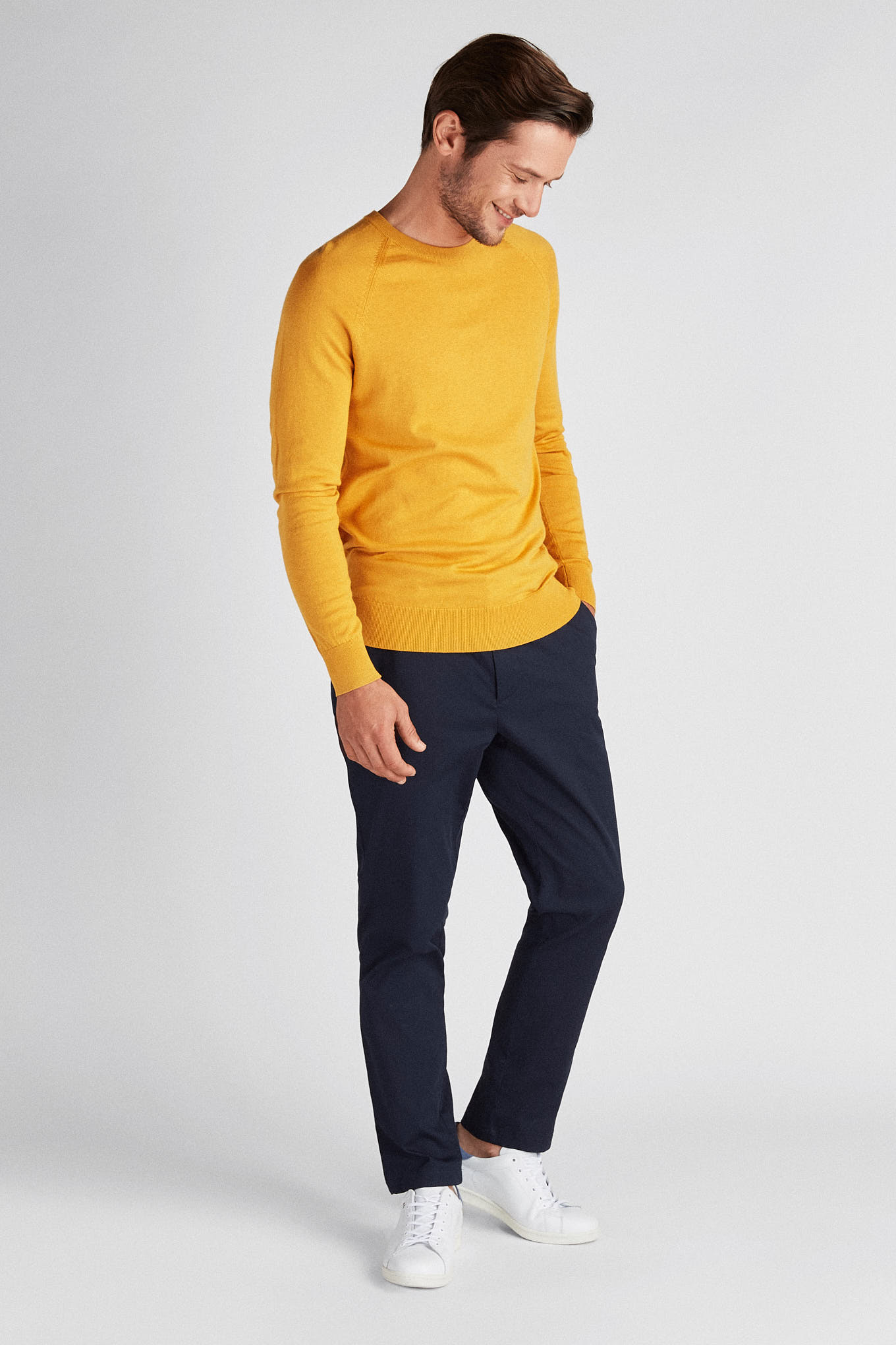 Sweater Yellow Casual Man