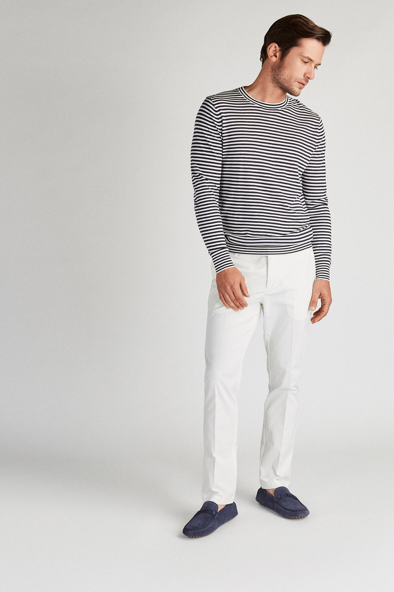 Chino Trousers White Sport Man