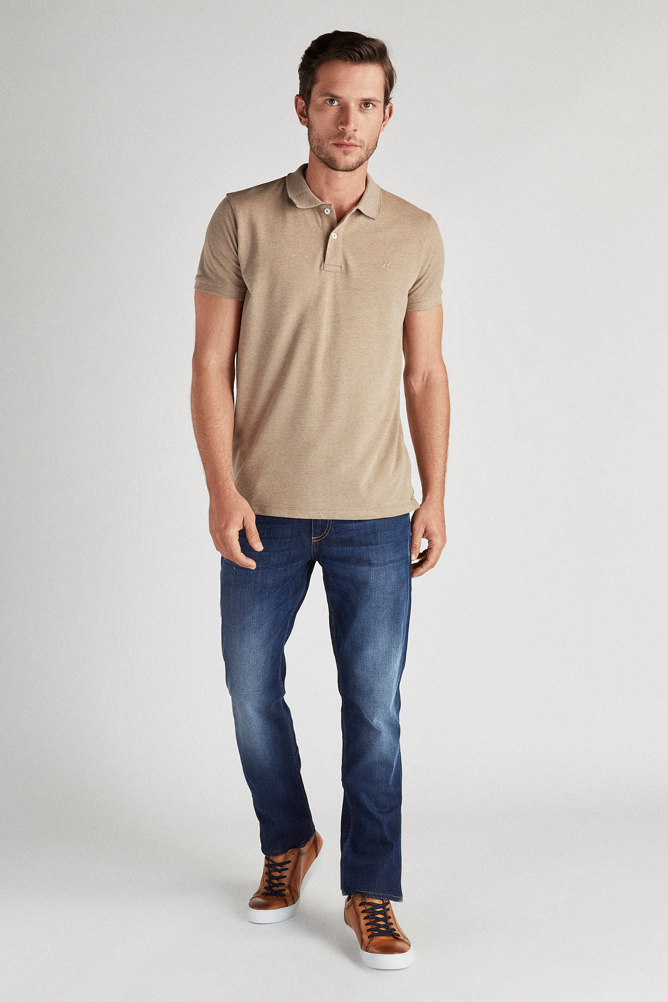 Polo Piquet Dark Beige Sport Man