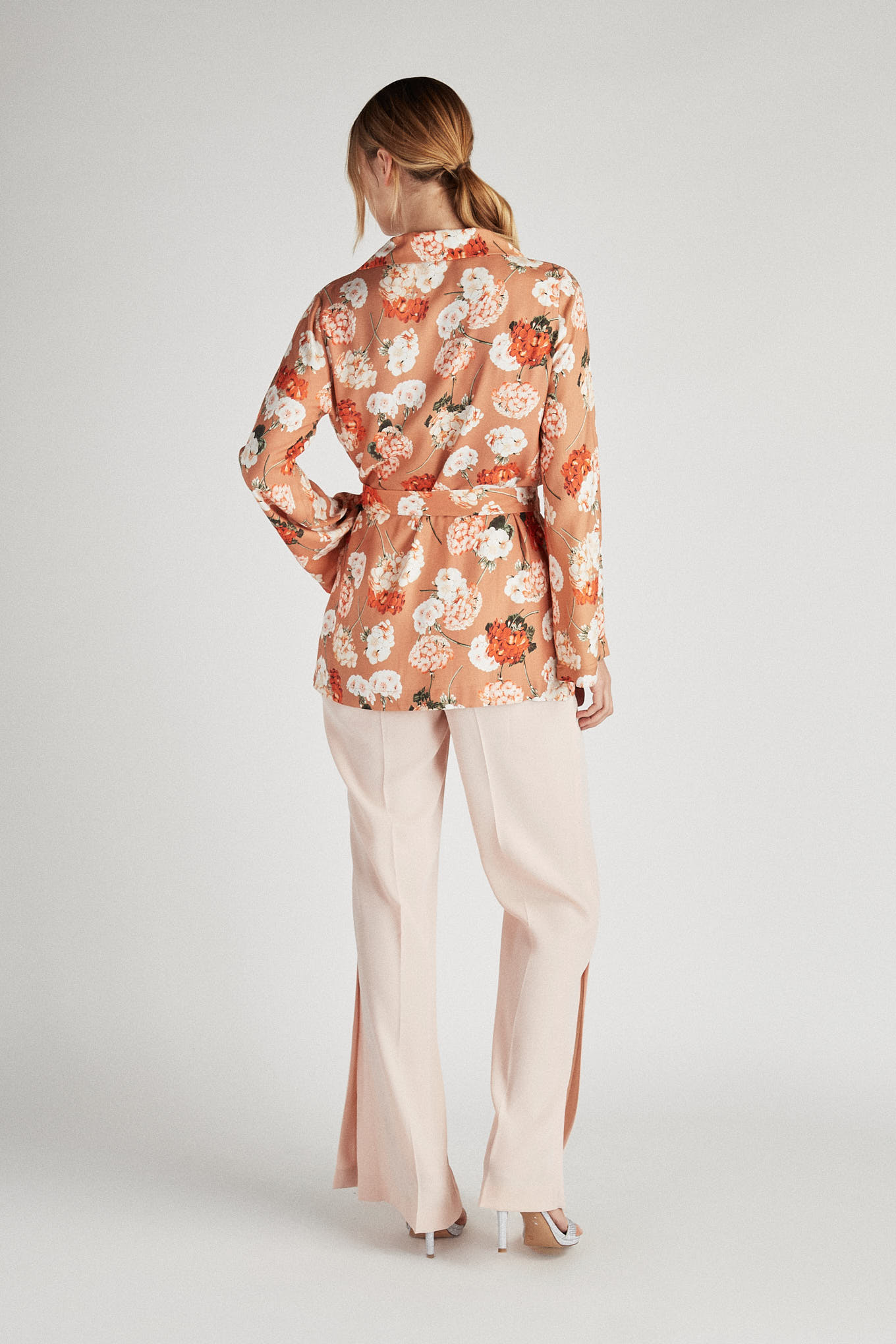 Trousers Light Pink Classic Woman