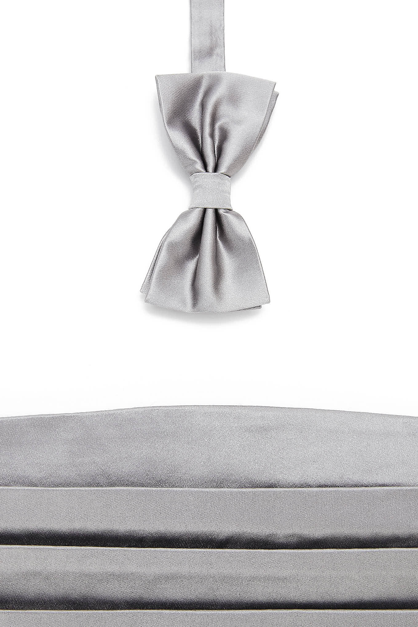 40 Bow Tie & Cummerbund Grey Classic Man
