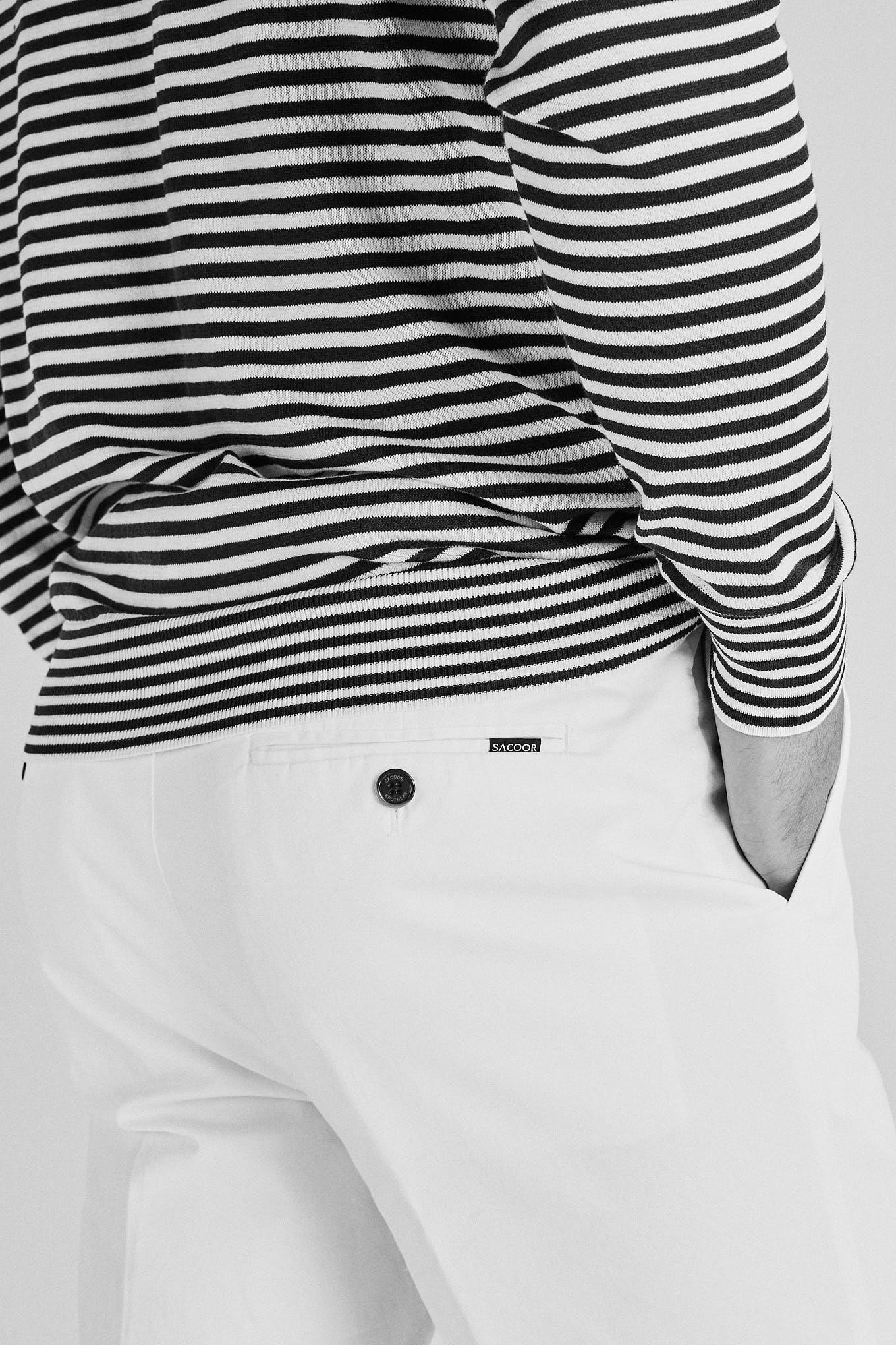 Chino Trousers White Sport Man
