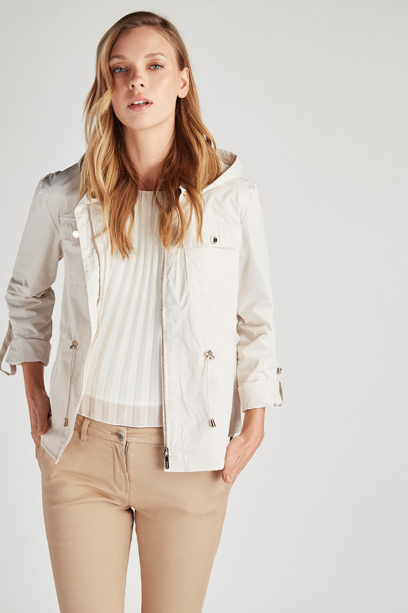 Jacket Beige Casual Woman
