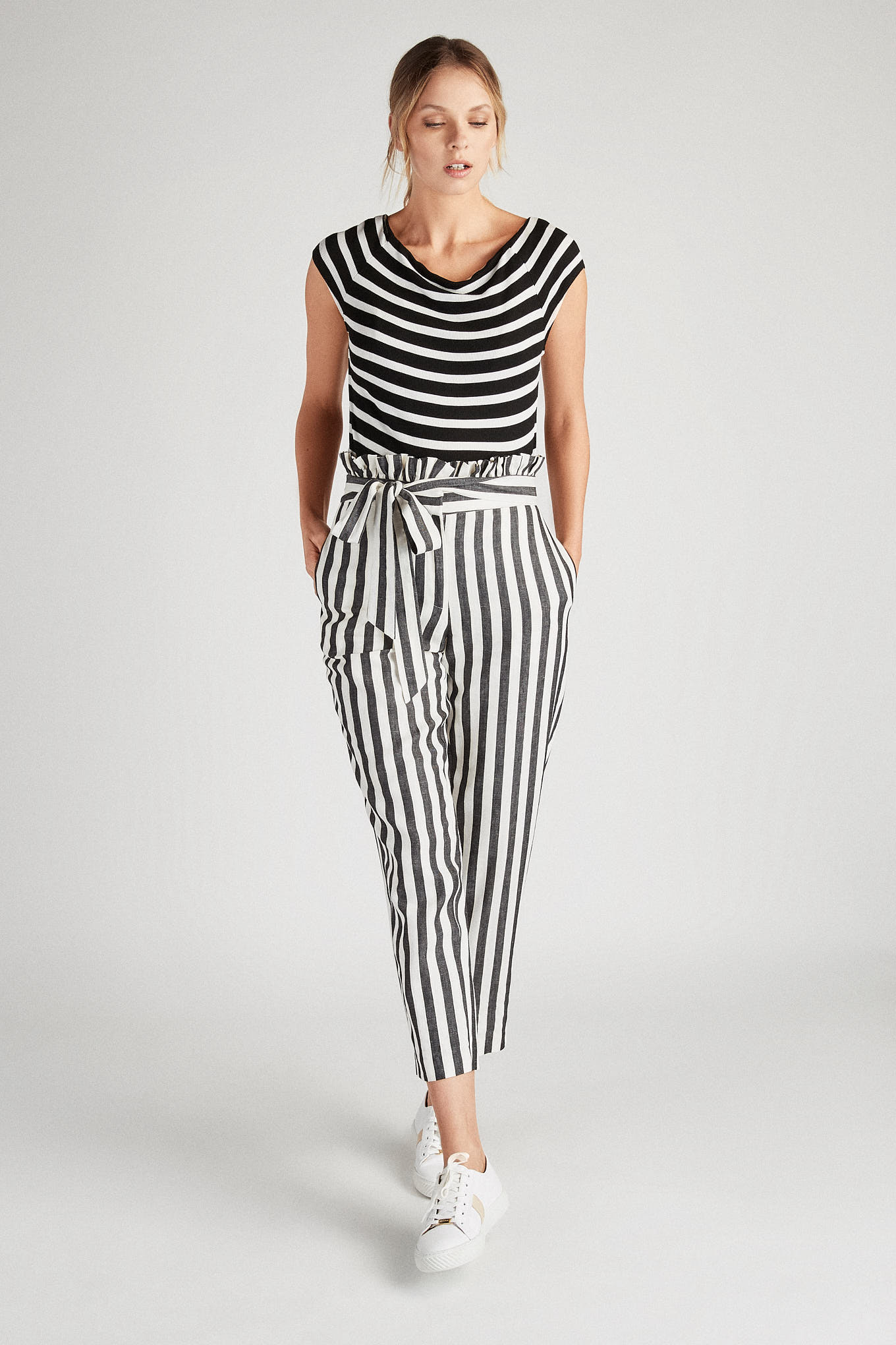 T-Shirt Stripes Casual Woman