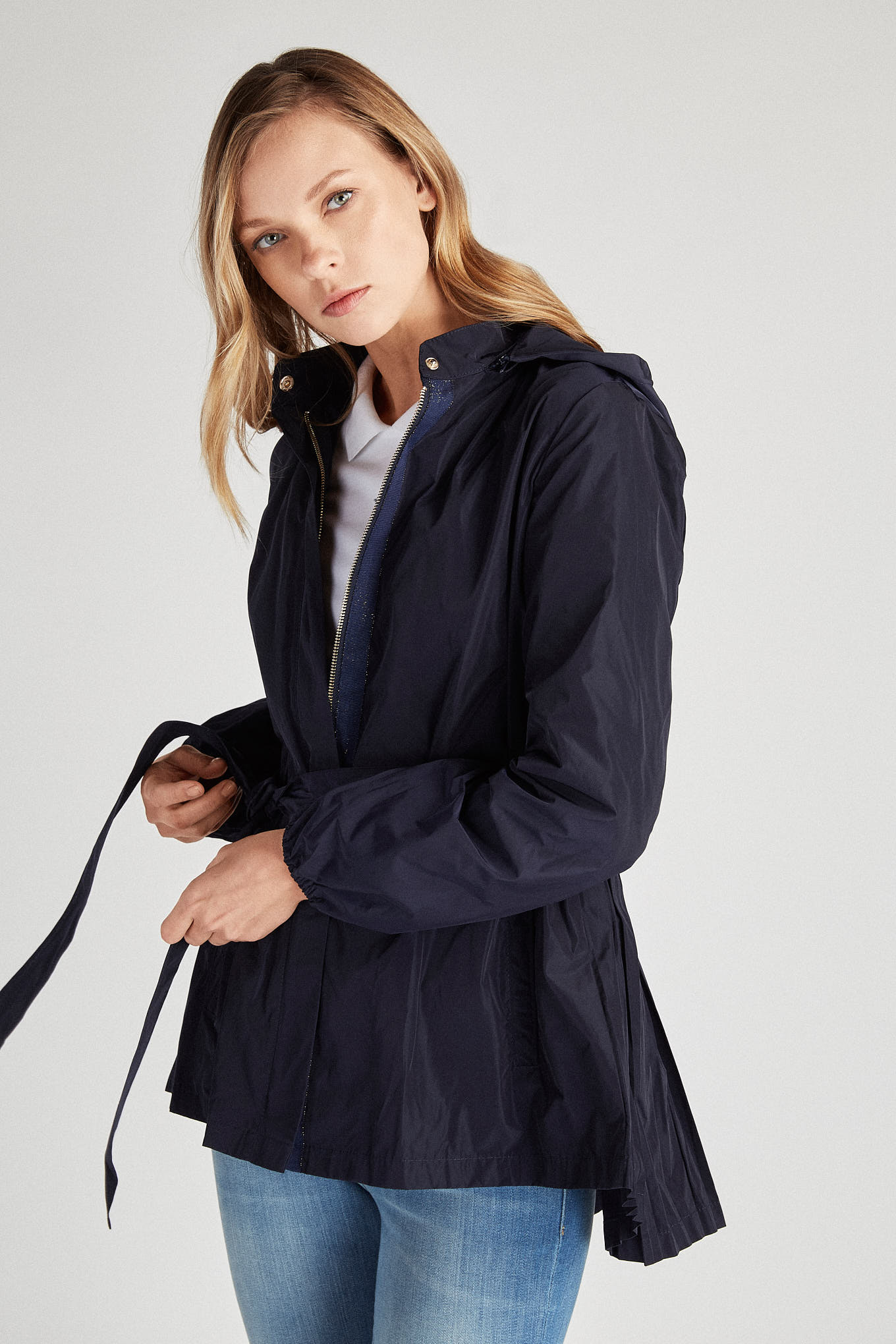 Parka Dark Blue Sport Woman