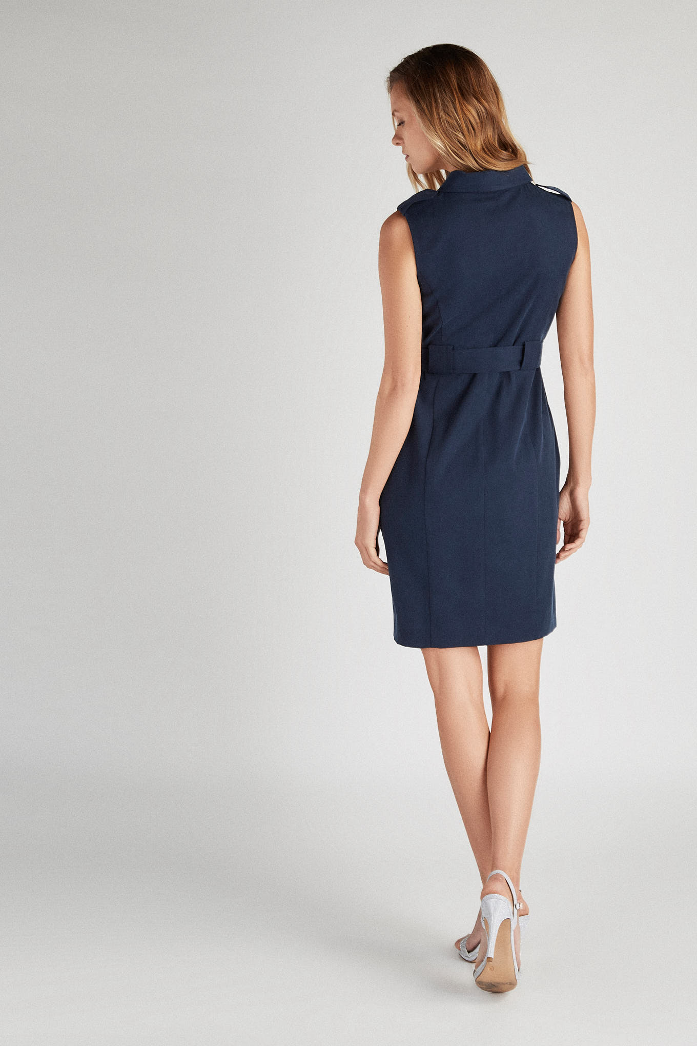 Vestido Azul Escuro Classic Mulher