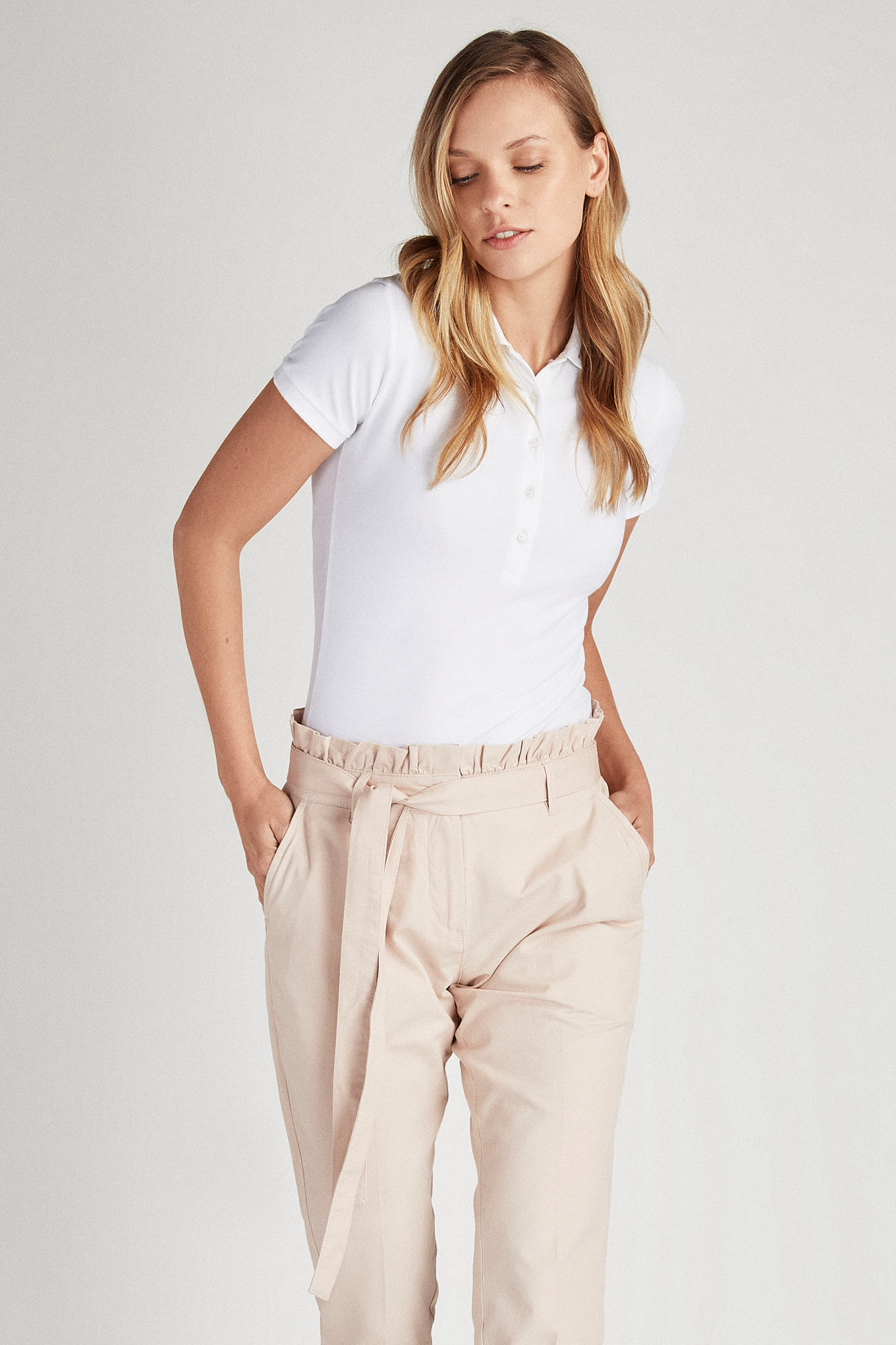 Chino Trousers Pale Pink Casual Woman
