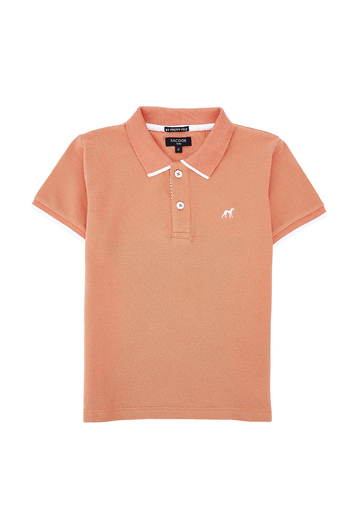 Polo Piquet Salmon Sport Boy