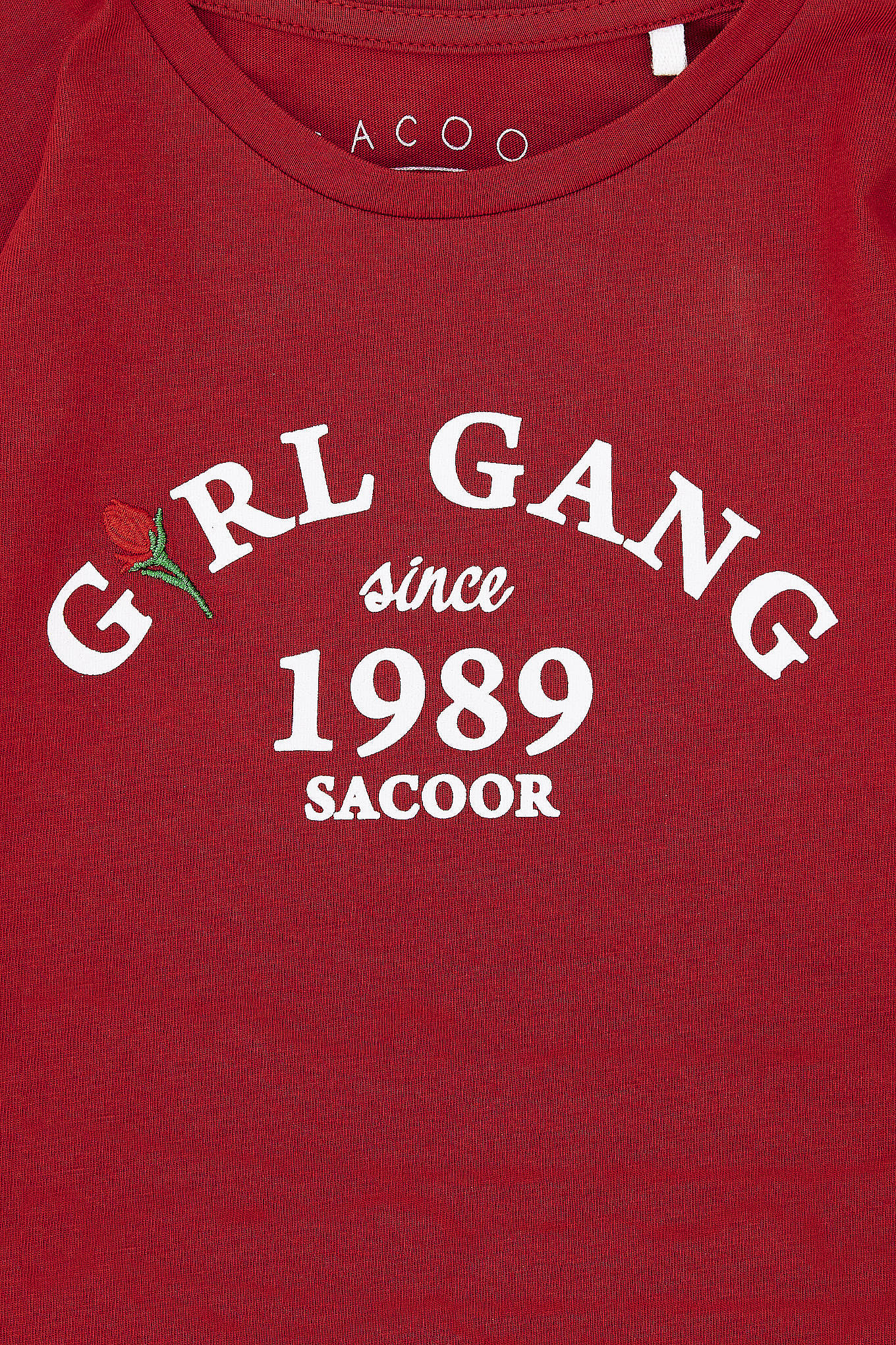 T-Shirt Red Sport Girl