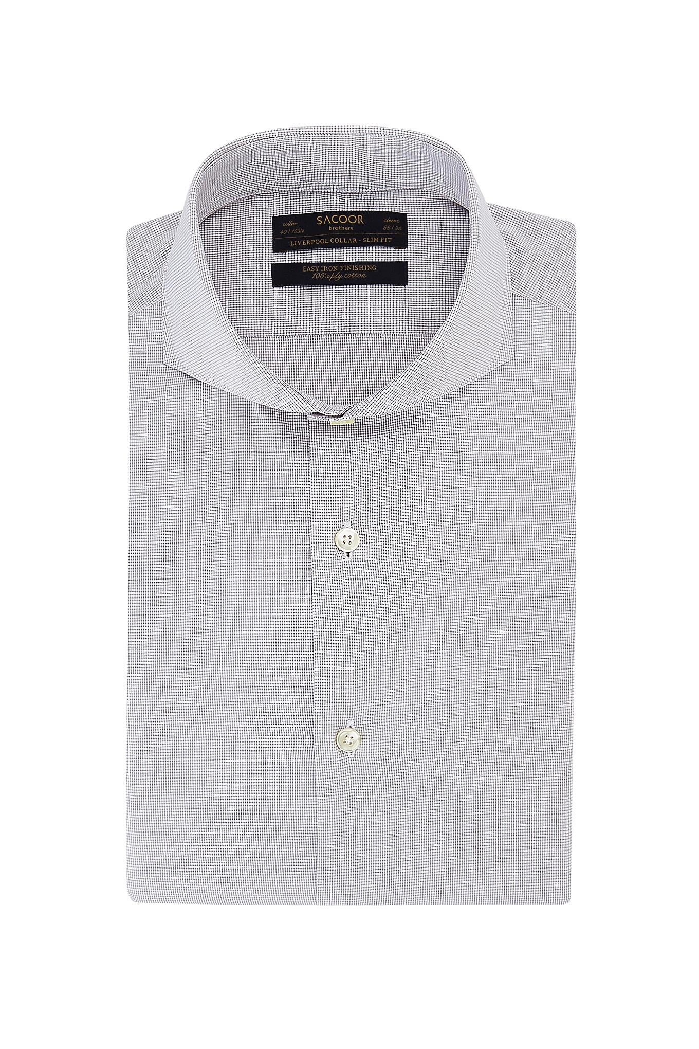 Camisa Castanho Classic Homem